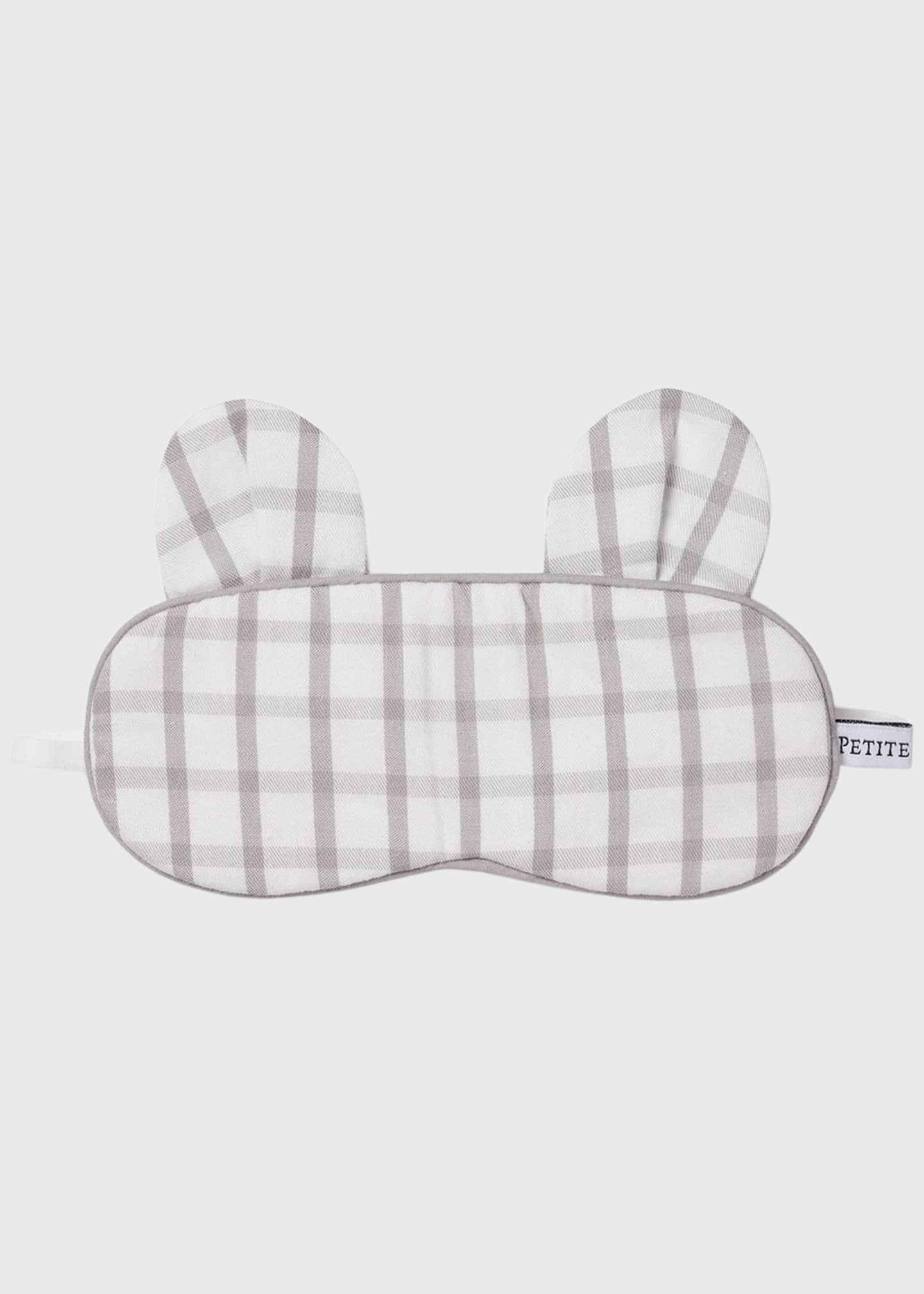 Image 1 of 1: Kid's Bear-y Sweet Tattersall Check Eye Mask