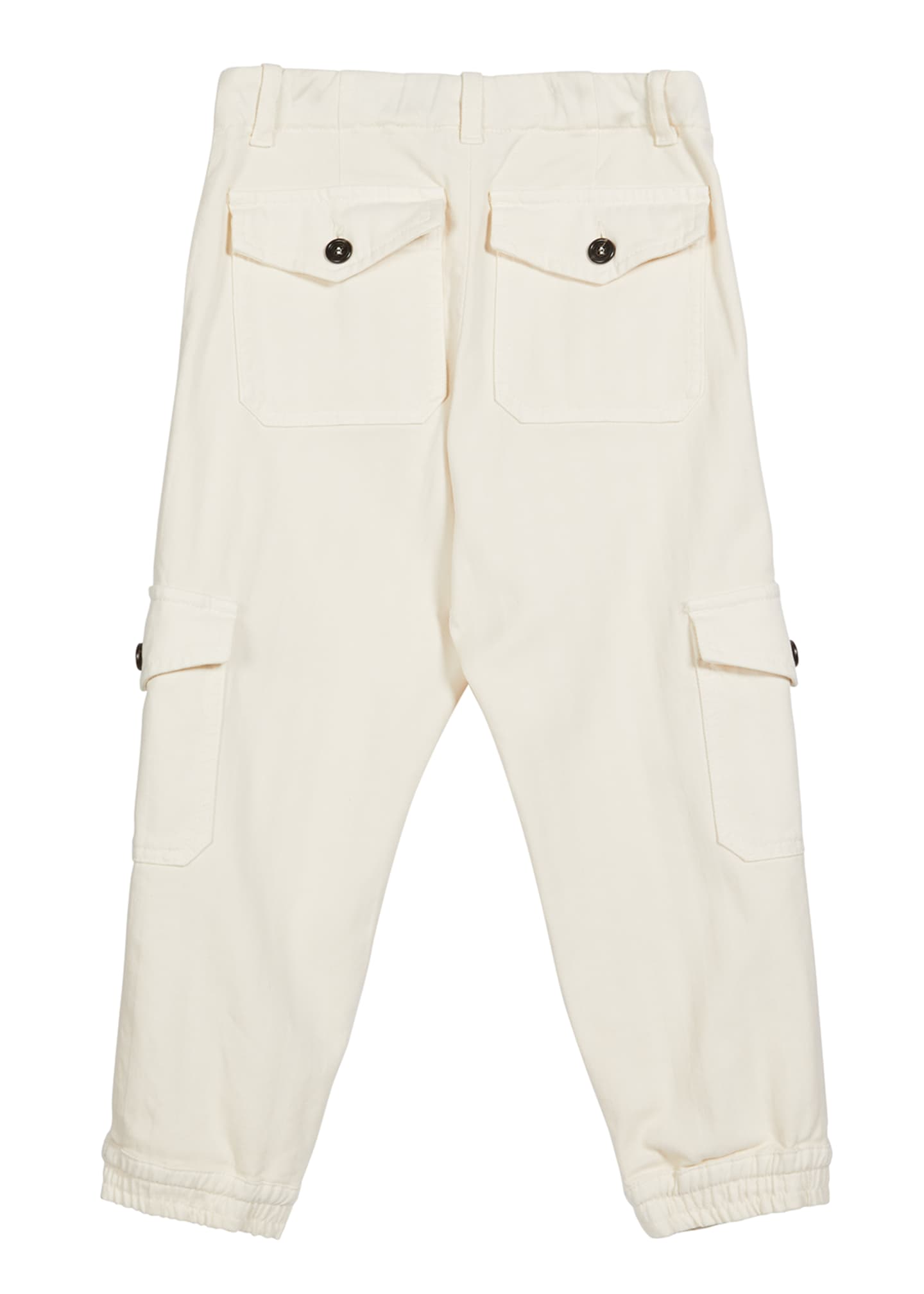 Image 2 of 2: Boy's Twill Jogger Cargo Pants, Size 8-10