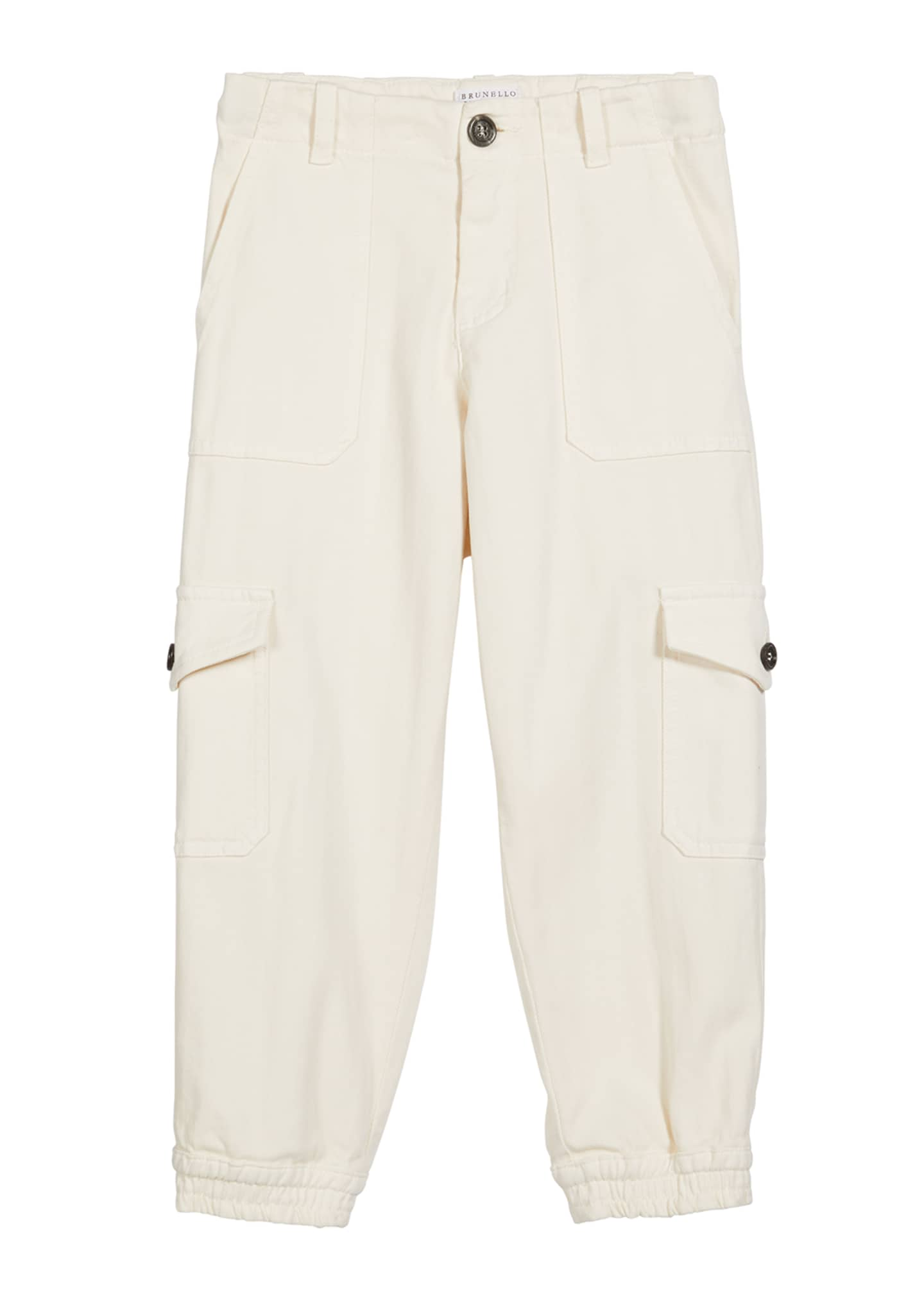 Image 1 of 2: Boy's Twill Jogger Cargo Pants, Size 8-10