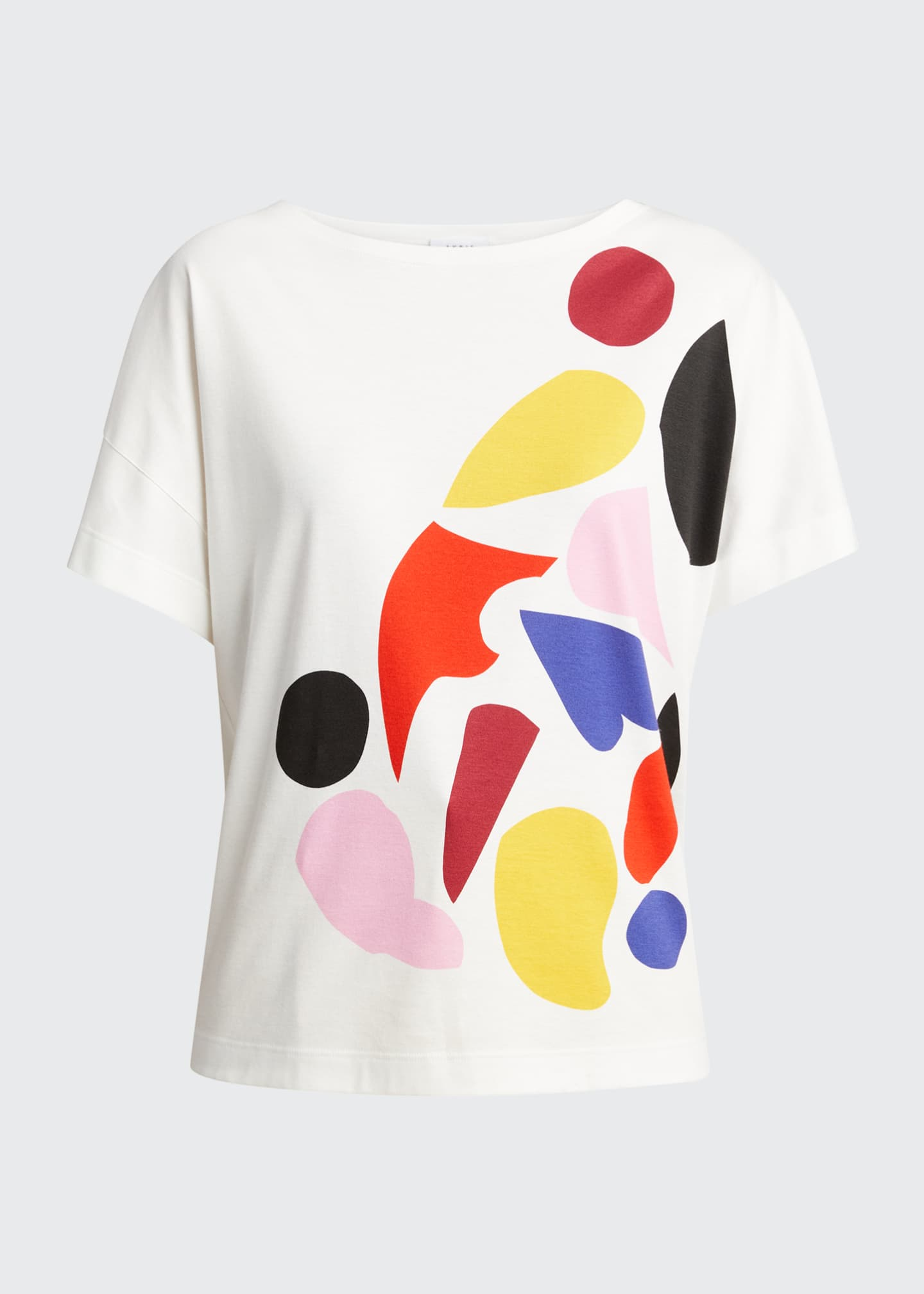 Image 5 of 5: Abstract Print Cotton T-Shirt