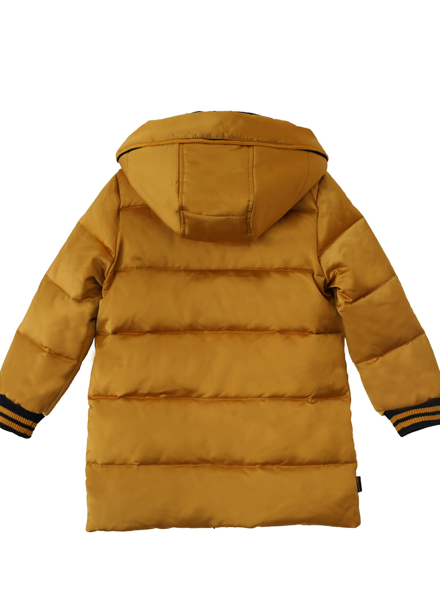 Image 2 of 2: Boy's Quilted Hooded Puffer Coat, Size 4-14
