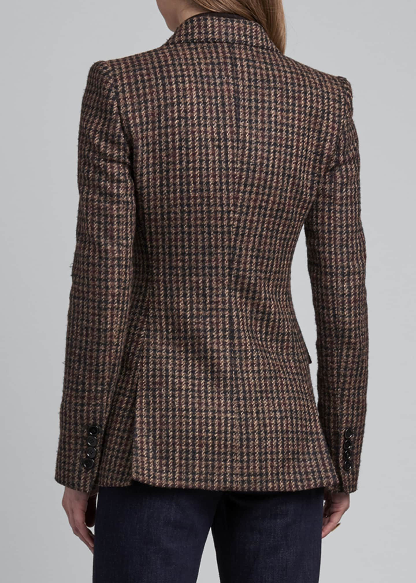 Image 2 of 4: Houndstooth One-Button Blazer