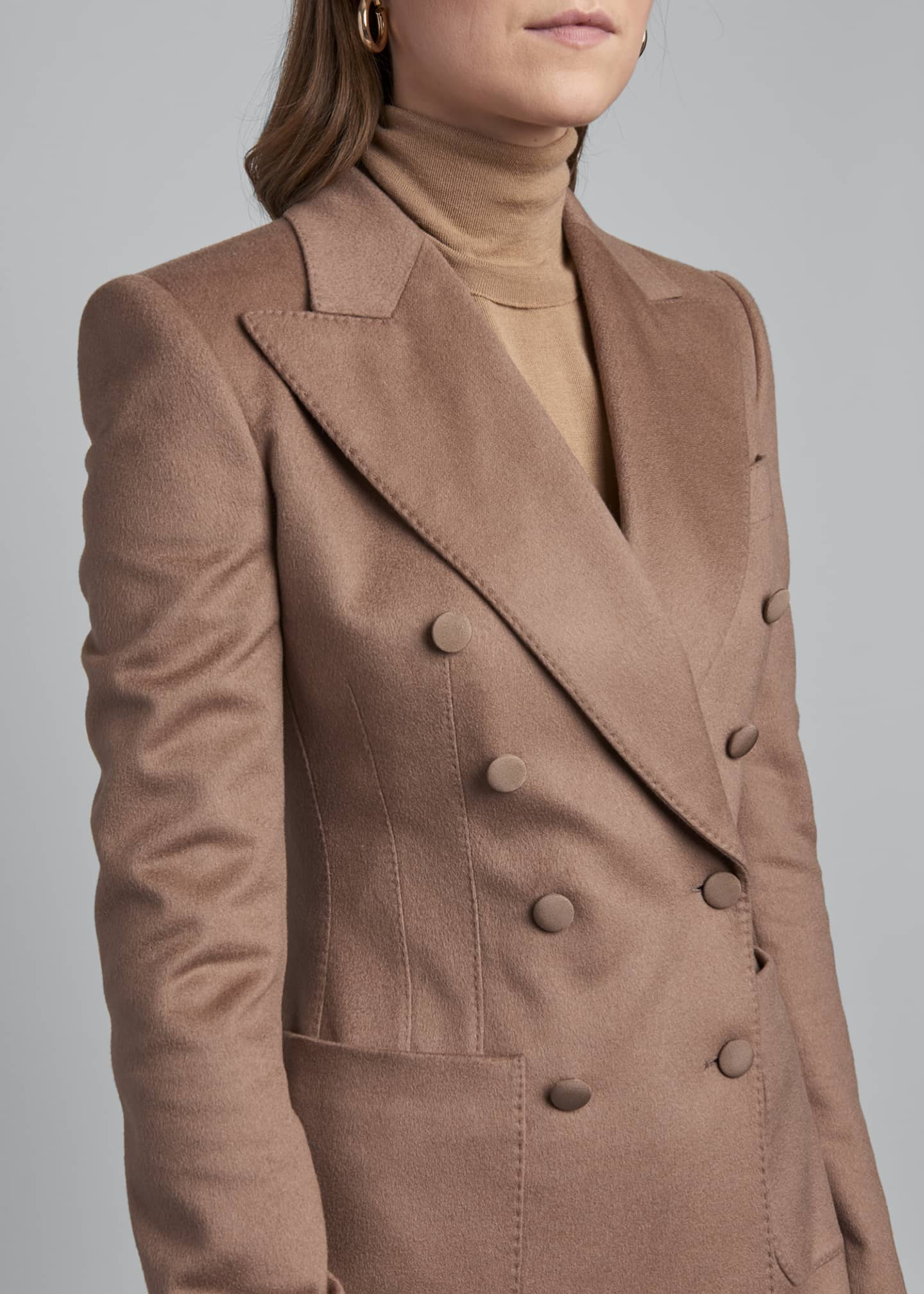 Image 3 of 3: Cashmere Double-Breasted Blazer