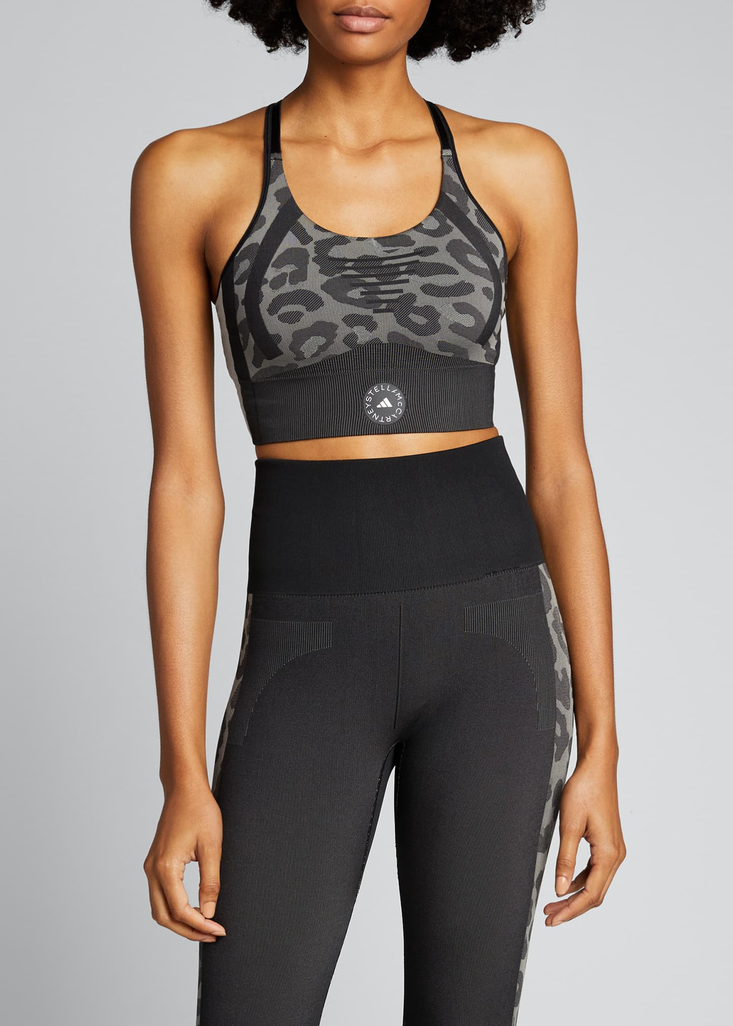 Image 3 of 5: True Purpose Animal Print Racerback Sports Bra