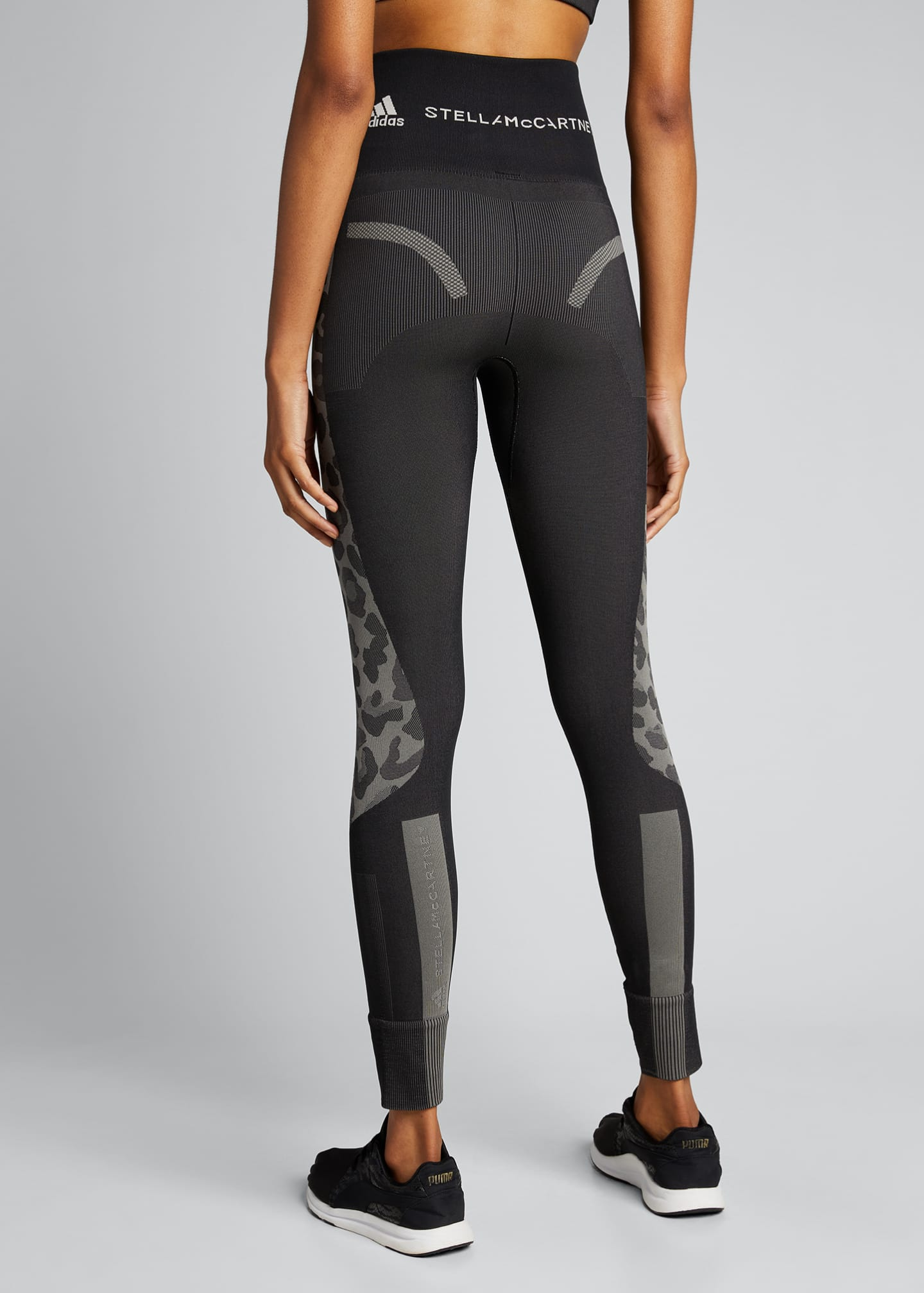 Image 2 of 5: Truepurpose Colorblock Animal Print Active Tights