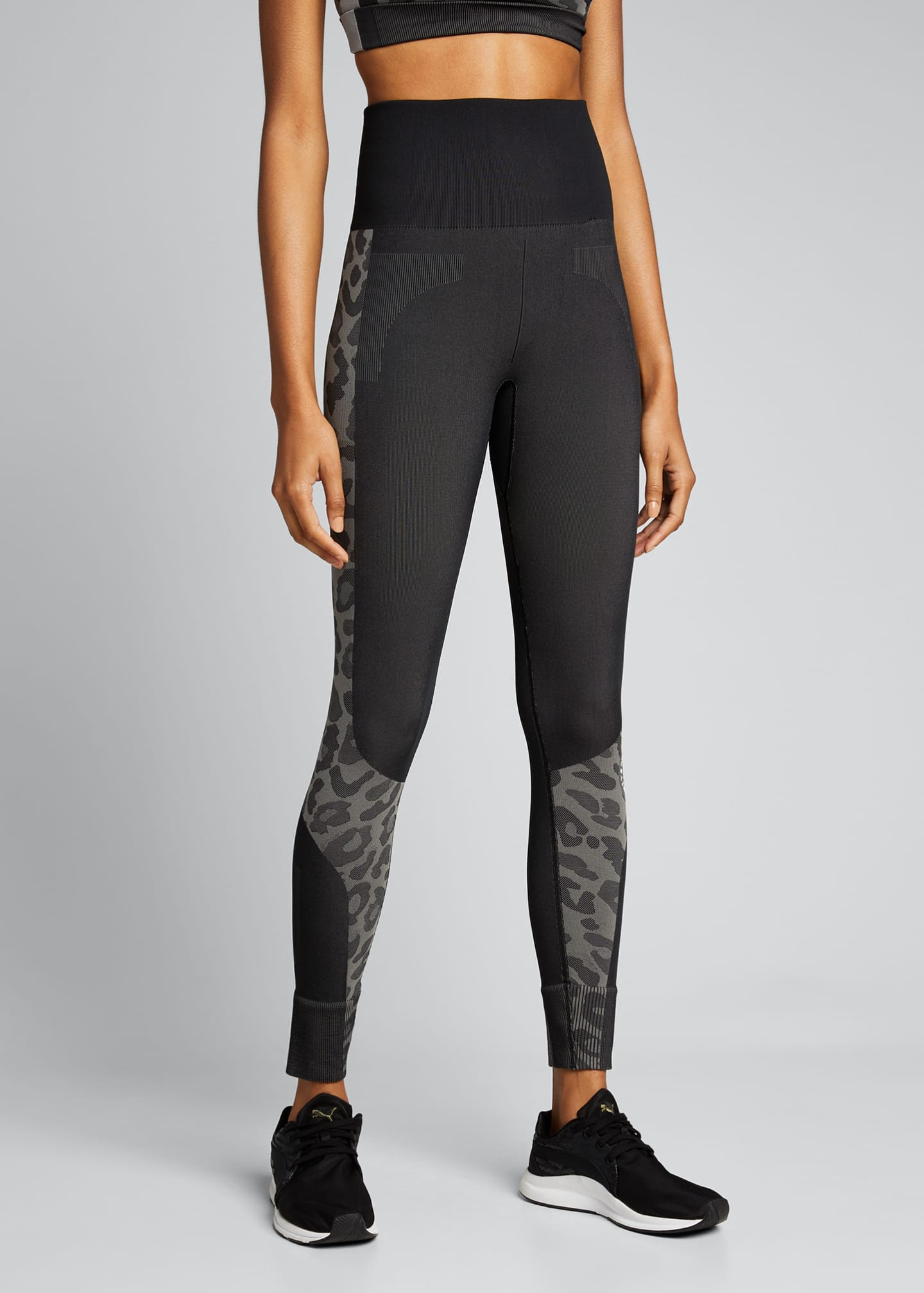 Image 3 of 5: Truepurpose Colorblock Animal Print Active Tights