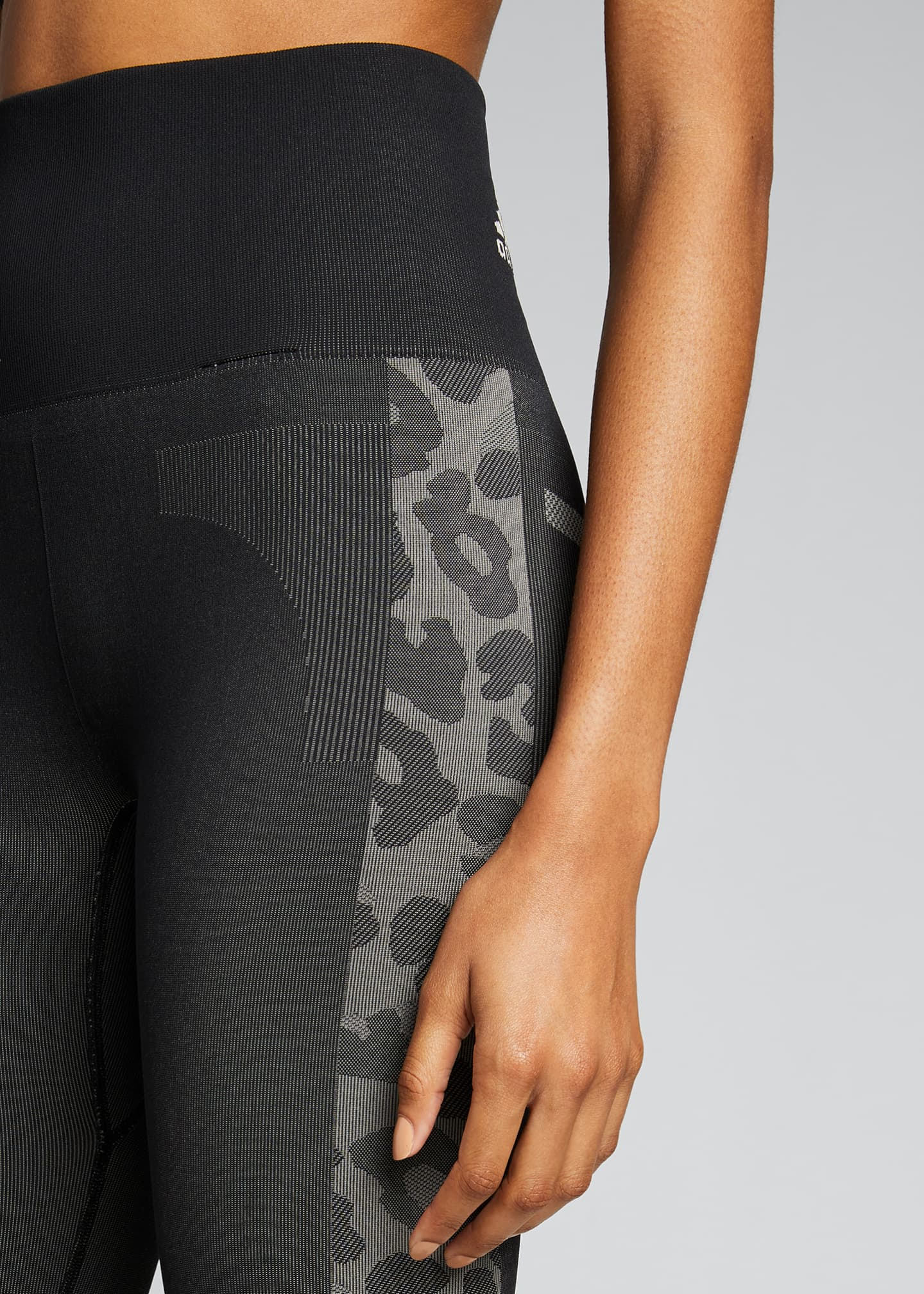 Image 4 of 5: Truepurpose Colorblock Animal Print Active Tights