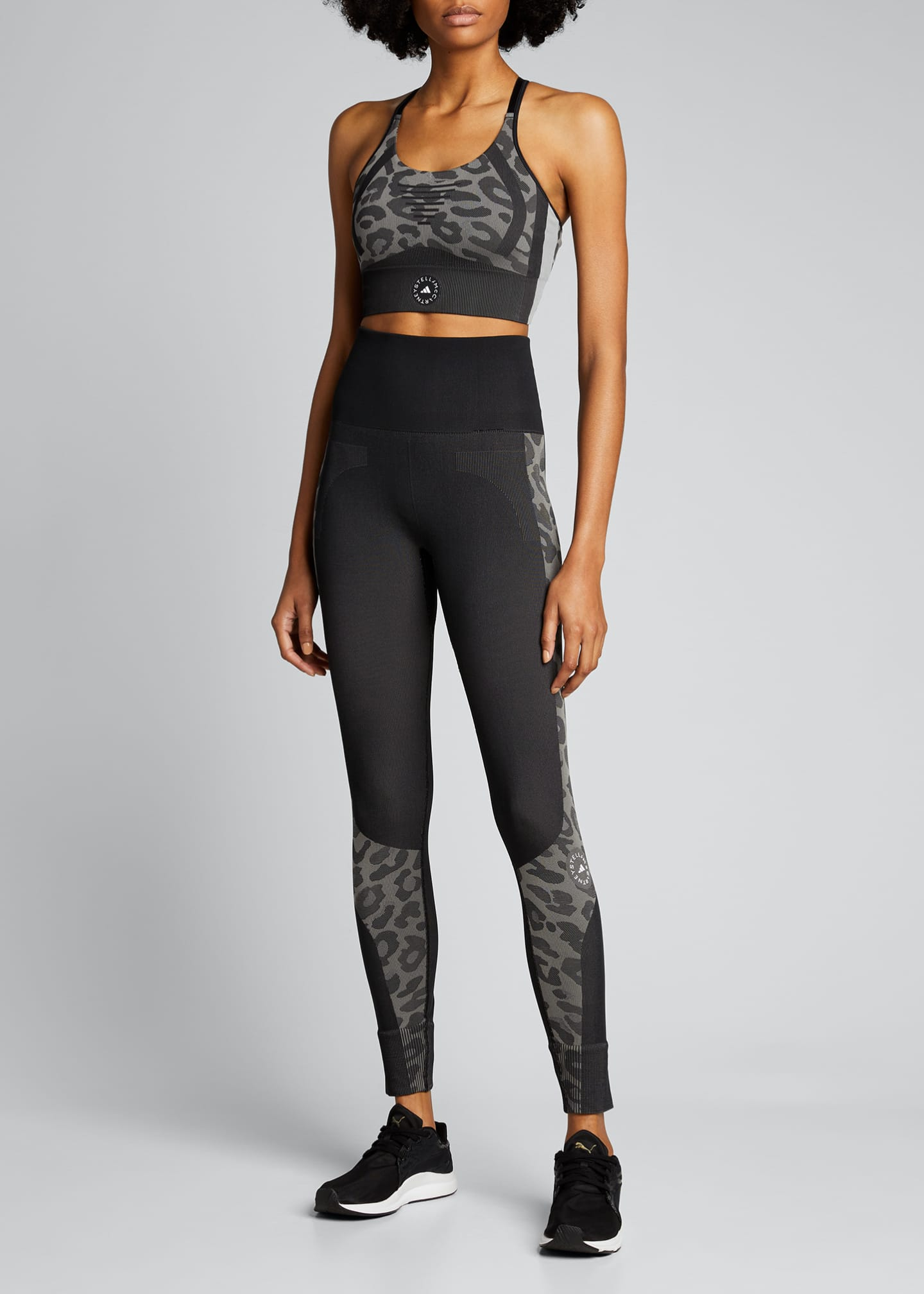 Image 1 of 5: Truepurpose Colorblock Animal Print Active Tights