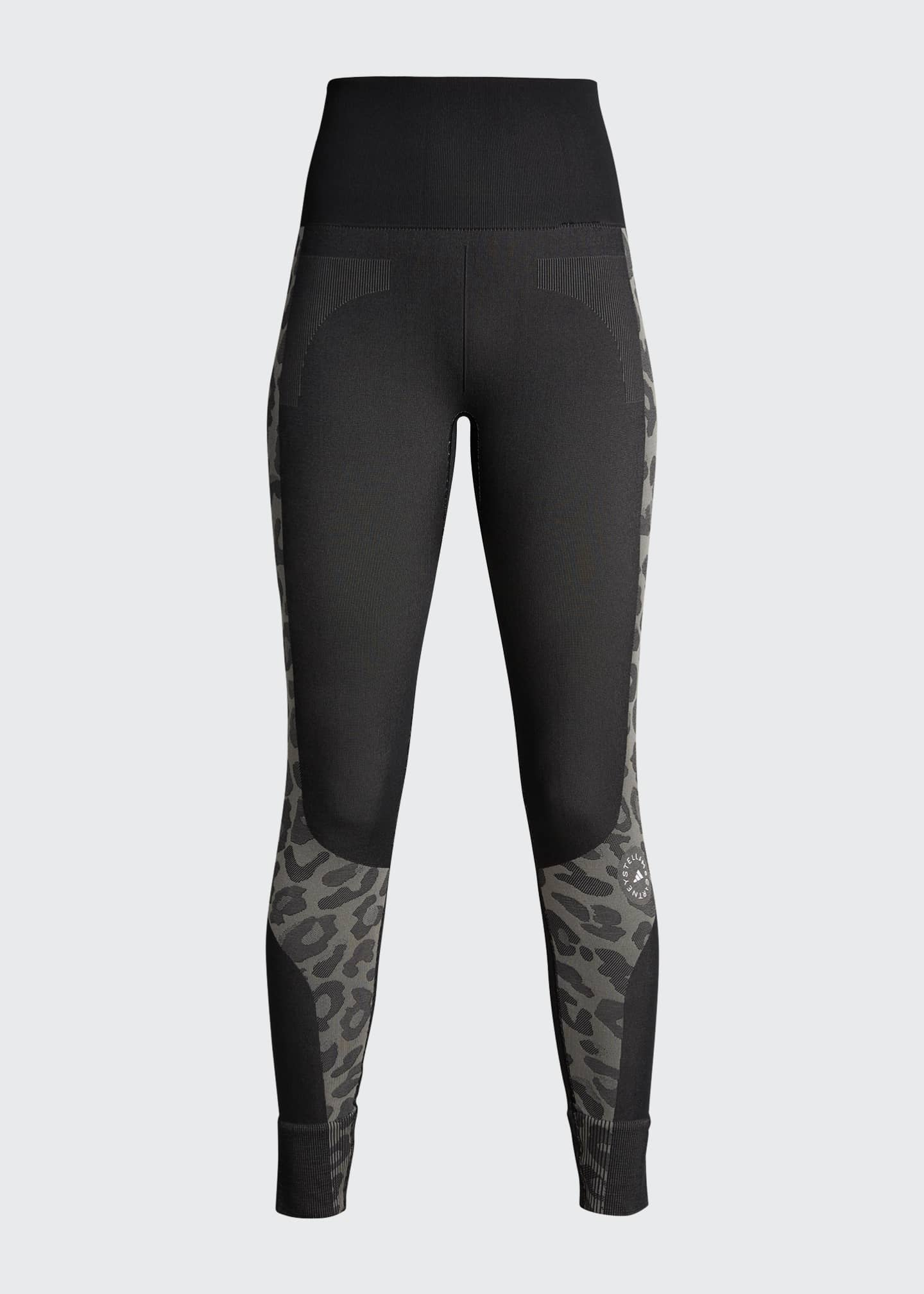 Image 5 of 5: Truepurpose Colorblock Animal Print Active Tights