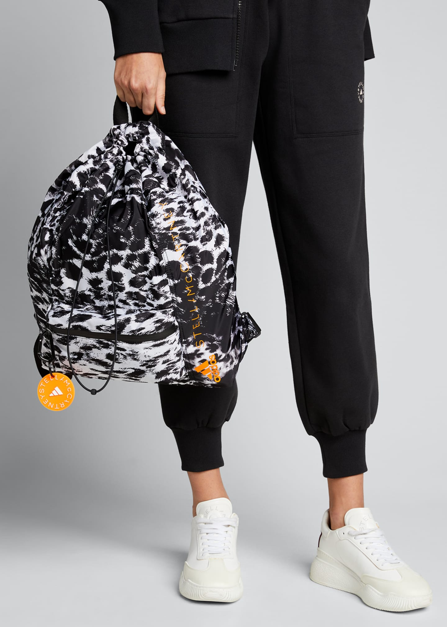 Image 2 of 5: Leopard-Print Drawstring Gym Backpack