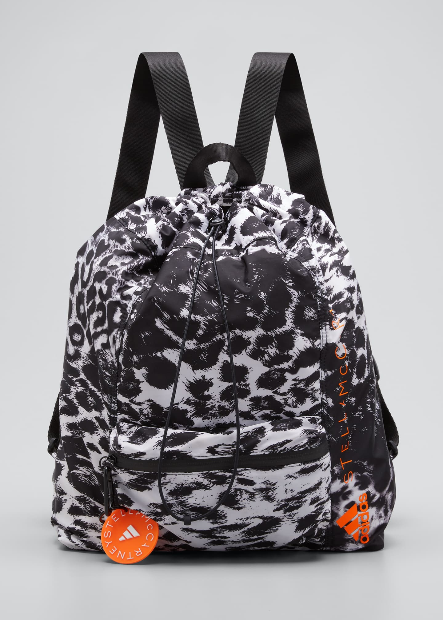Image 1 of 5: Leopard-Print Drawstring Gym Backpack