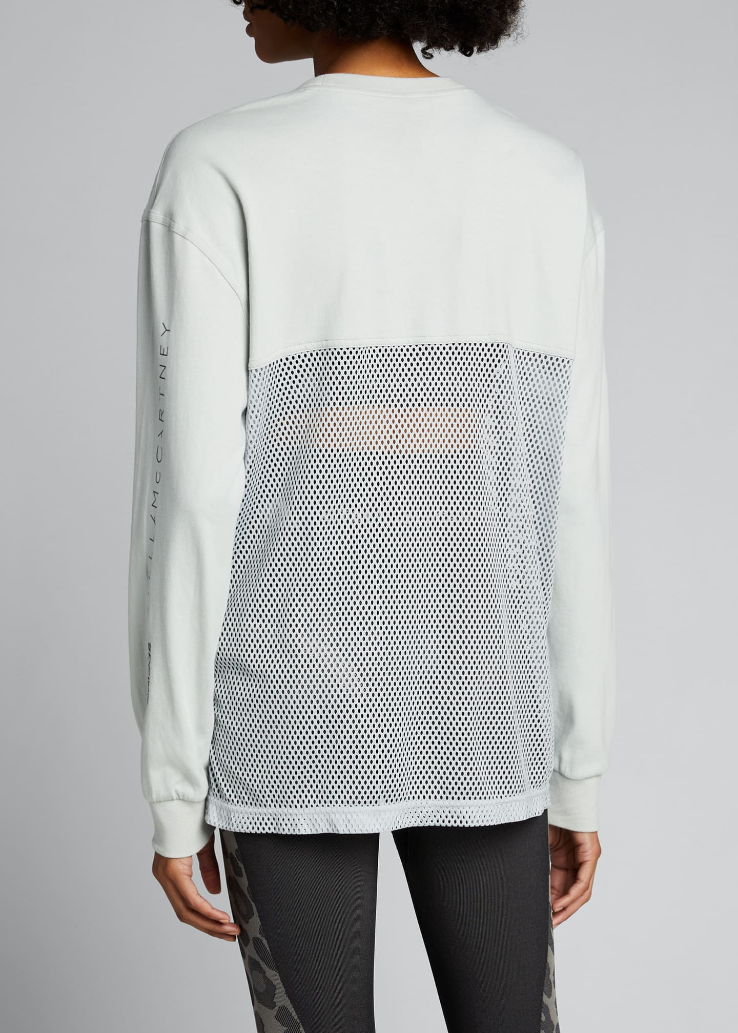 Image 2 of 4: Long-Sleeve Breathable Mesh Paneled Top