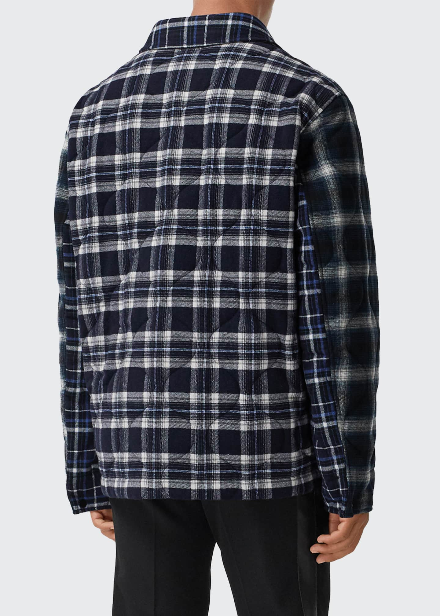 Image 4 of 5: Men's Hexham Quilted Plaid Shirt Jacket
