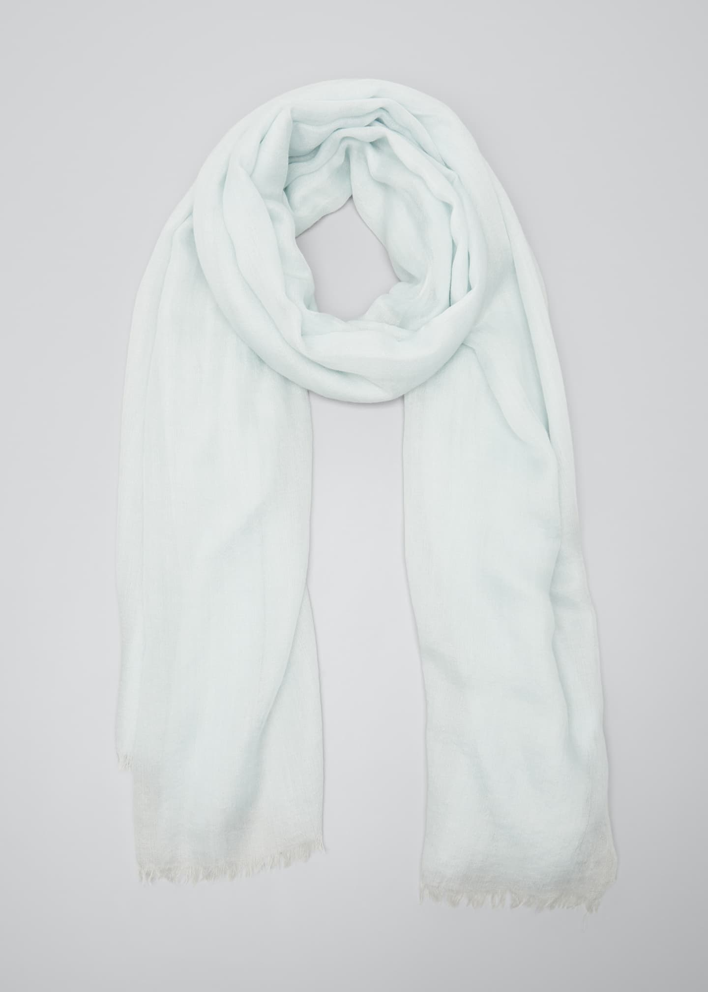Image 1 of 4: Cashmere-Silk Scarf with Fringe