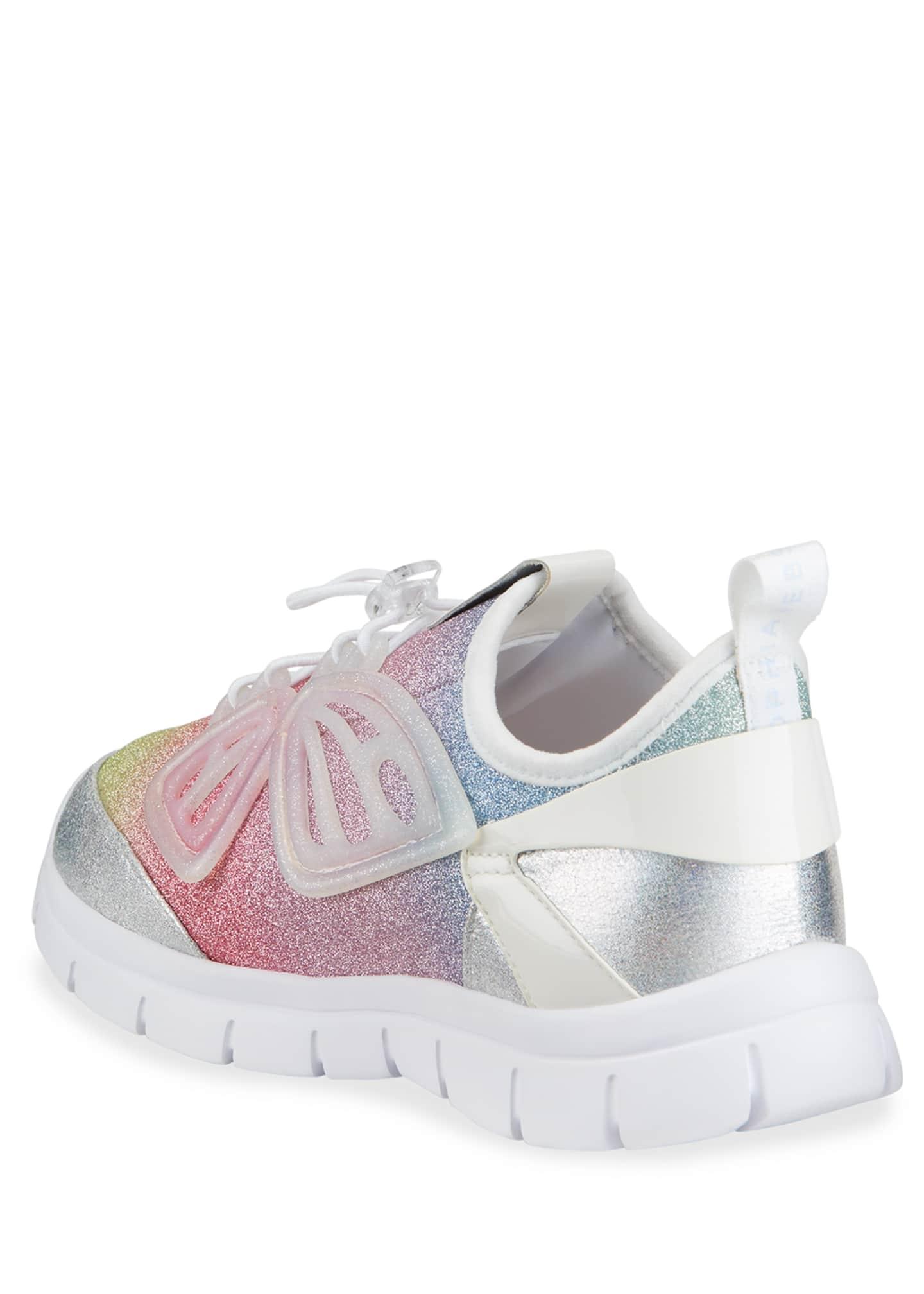 Sophia Webster Girl's Fly By Ombre Pastel Glitter Sneakers ...