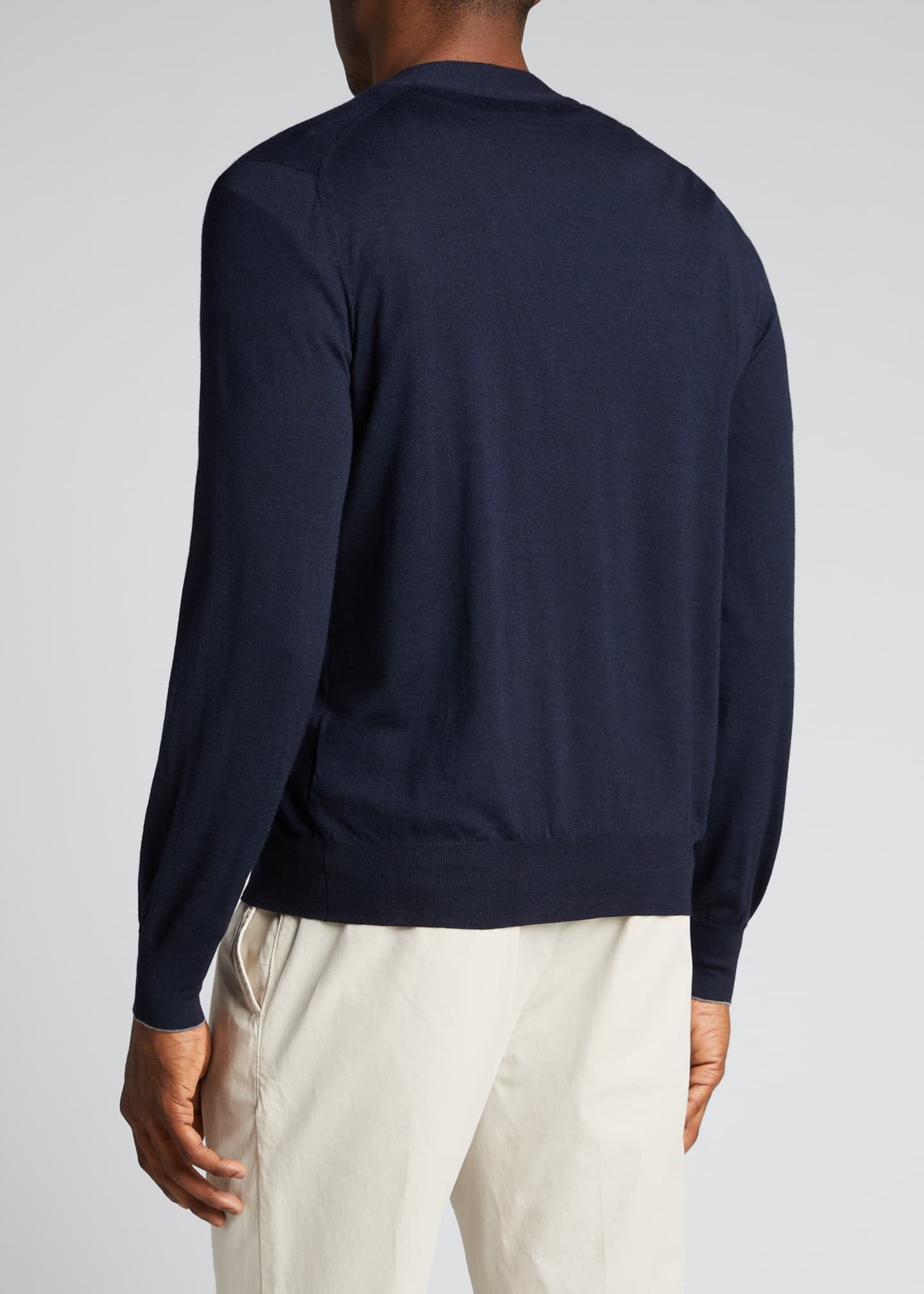 Image 2 of 5: Men's Fine-Gauge Cashmere Cardigan