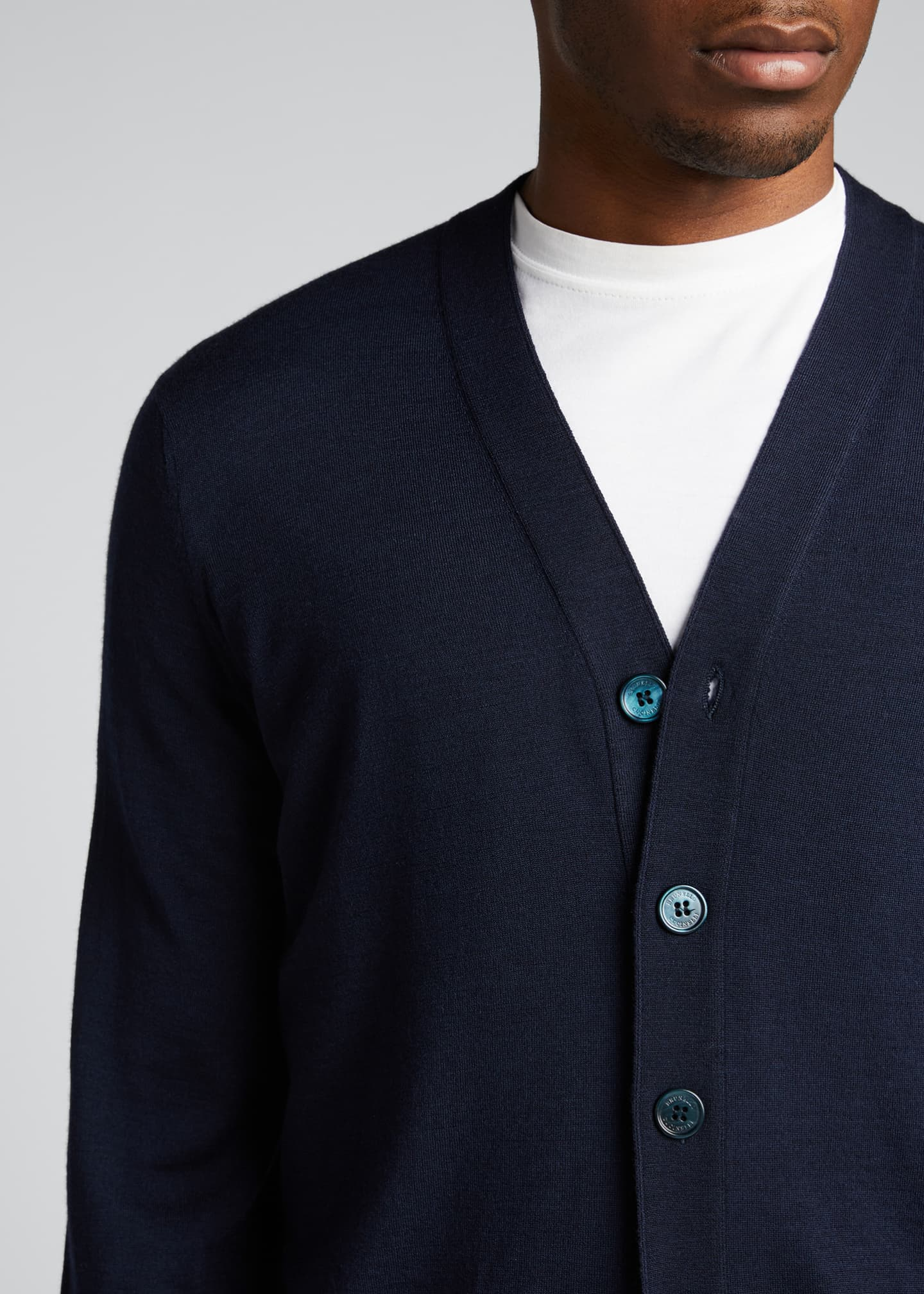 Image 4 of 5: Men's Fine-Gauge Cashmere Cardigan