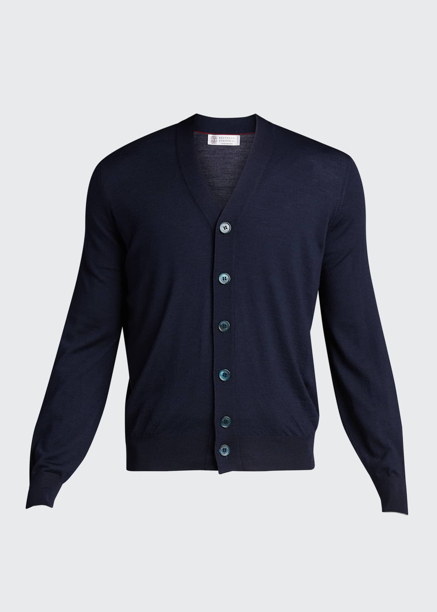 Image 5 of 5: Men's Fine-Gauge Cashmere Cardigan