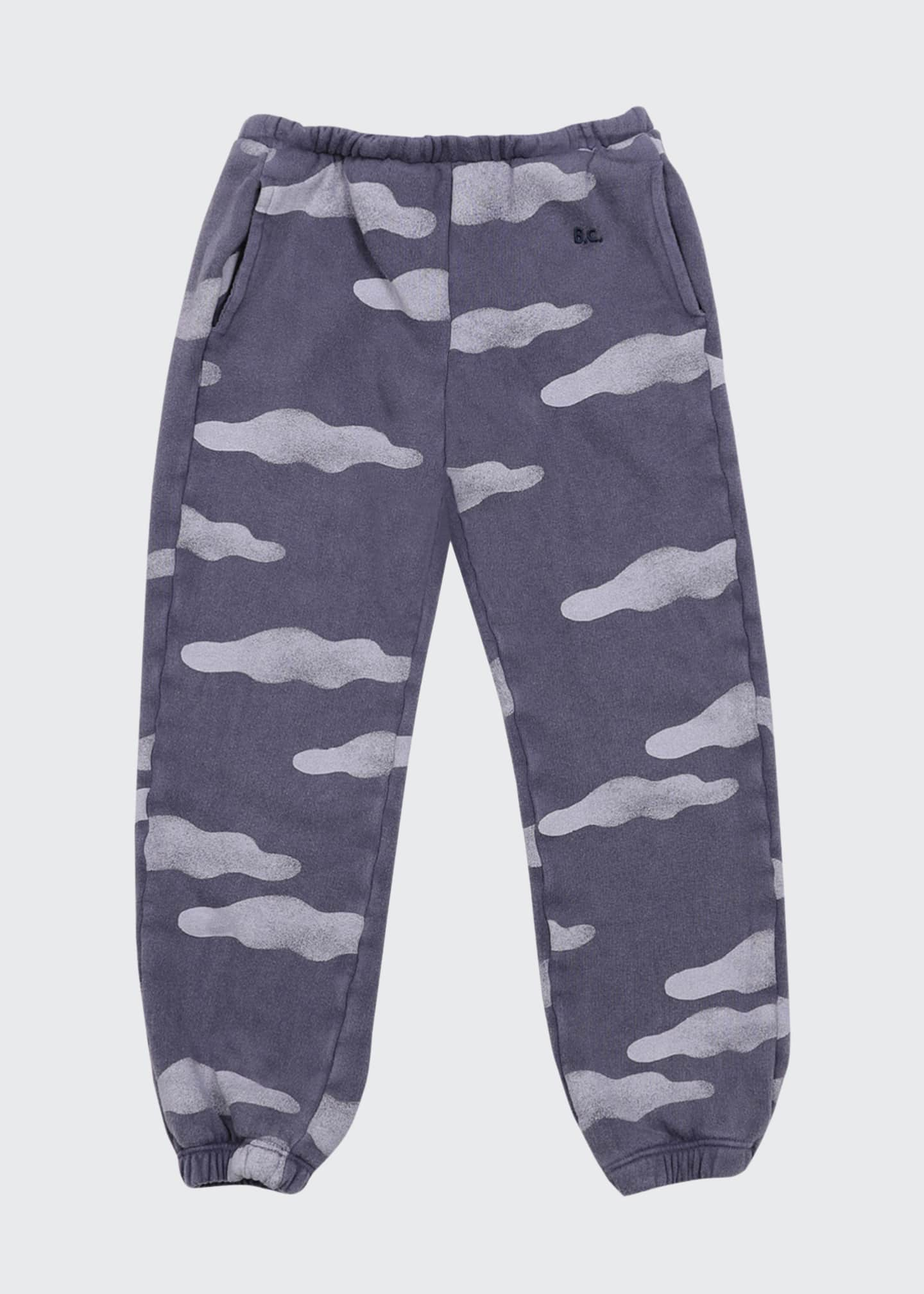 Image 2 of 2: Kid Girls' Clouds Allover Jogging Pants