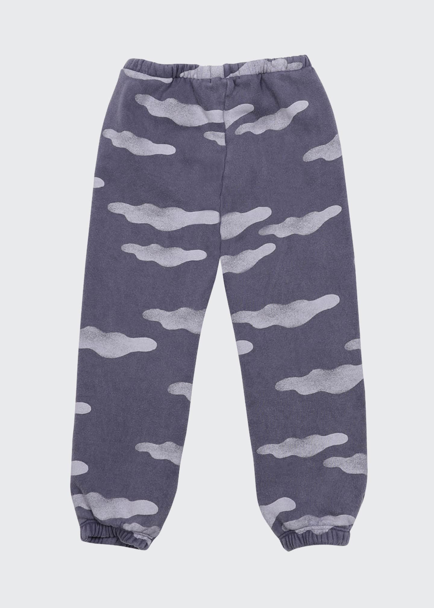 Image 1 of 2: Kid Girls' Clouds Allover Jogging Pants