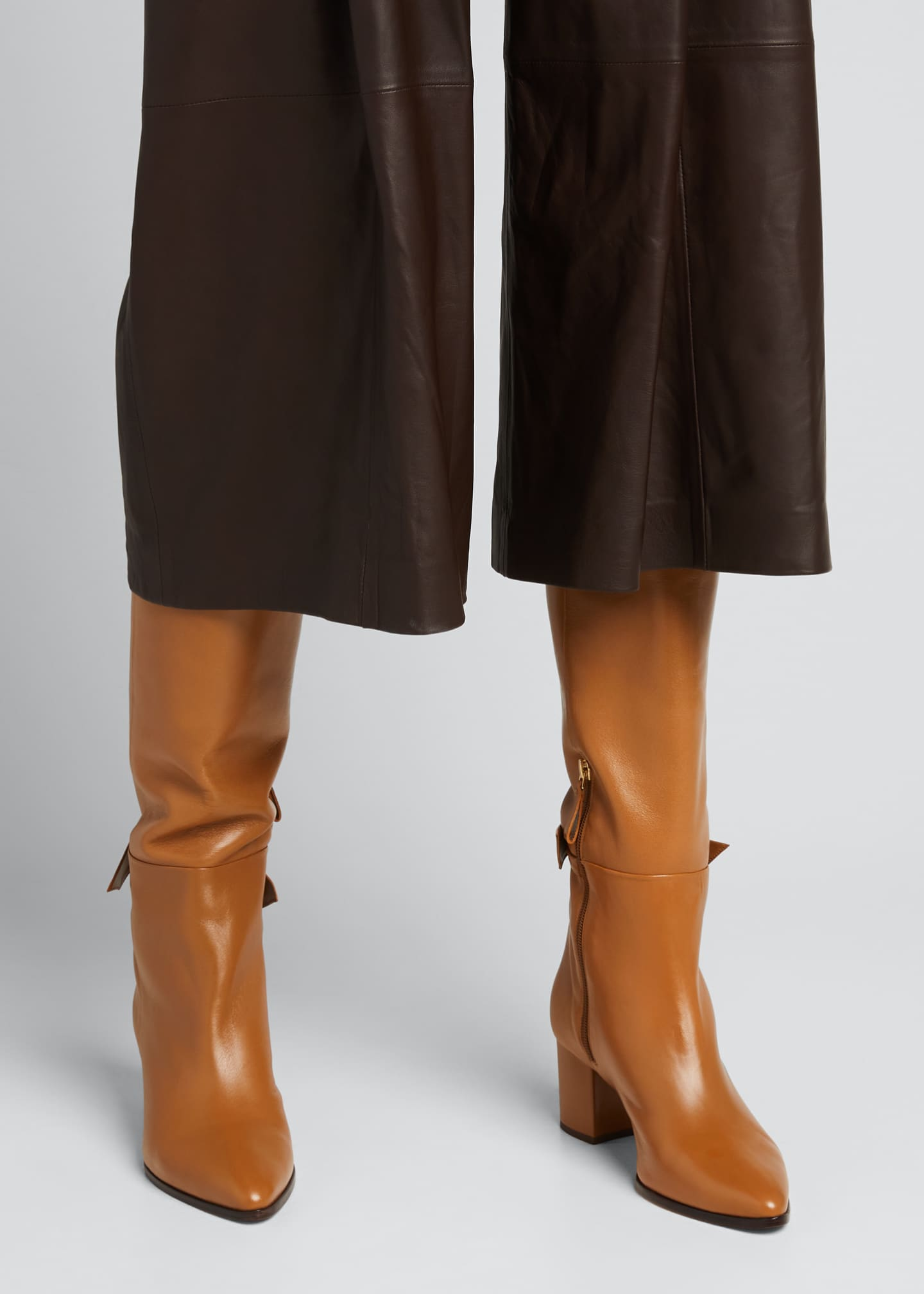 Image 2 of 5: Clarita Tall Leather Boots