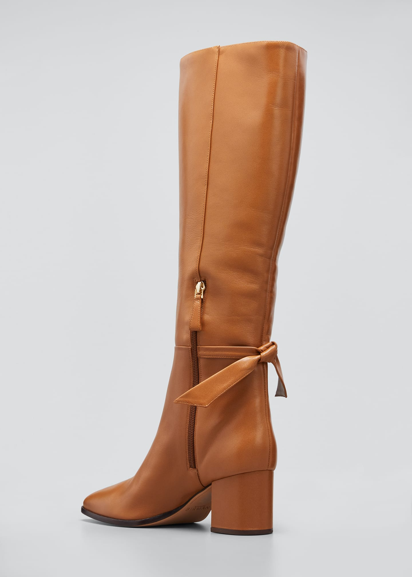 Image 4 of 5: Clarita Tall Leather Boots