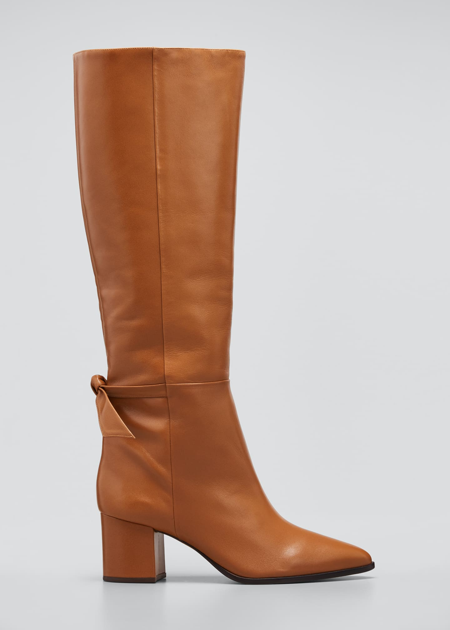 Image 1 of 5: Clarita Tall Leather Boots