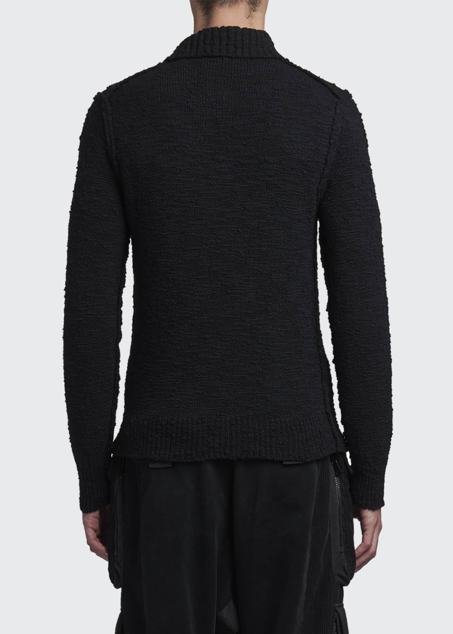 Image 2 of 2: Men's Knit Cashmere Long-Sleeve Polo Shirt