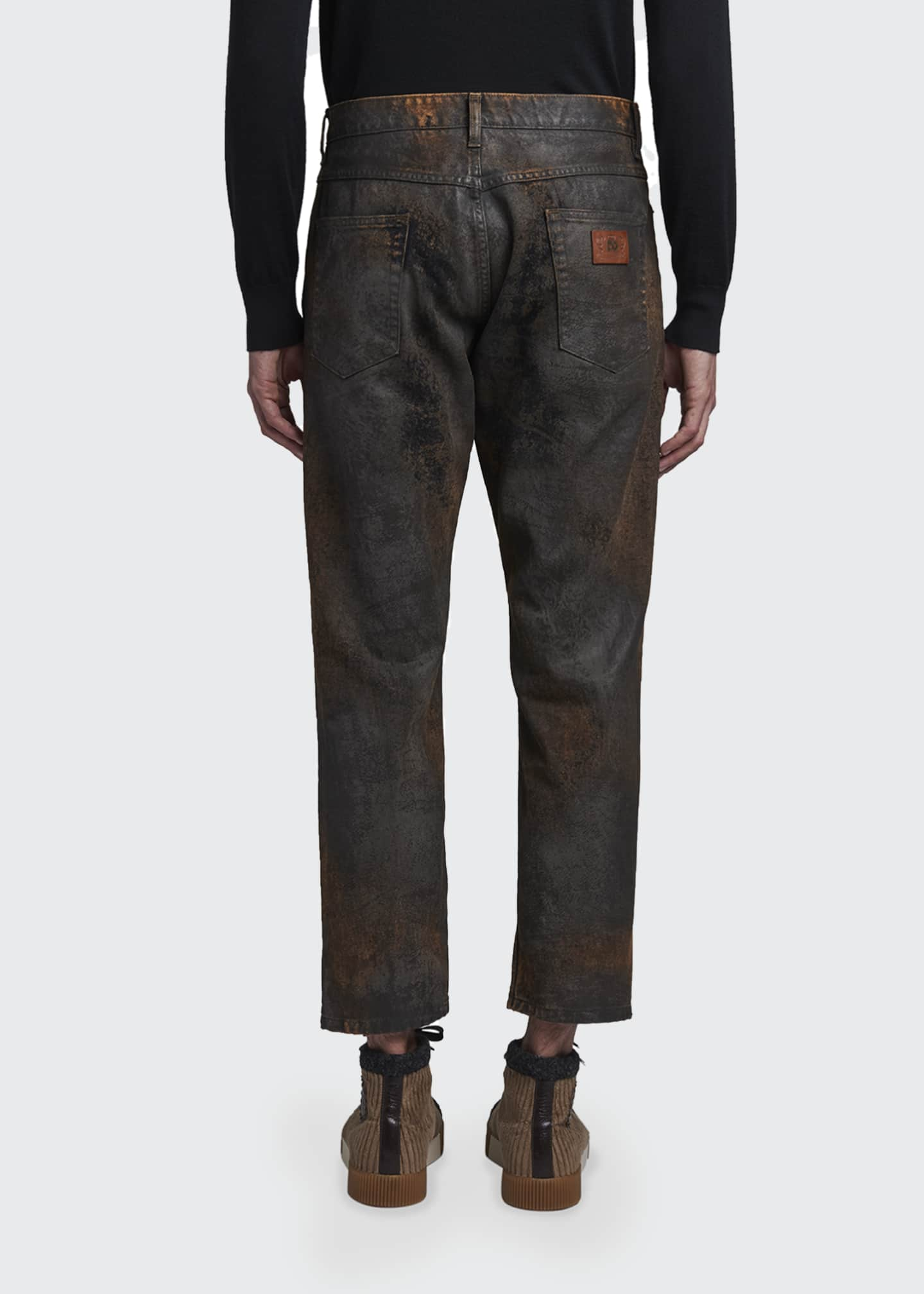 Image 2 of 2: Men's Overdyed Cropped Jeans