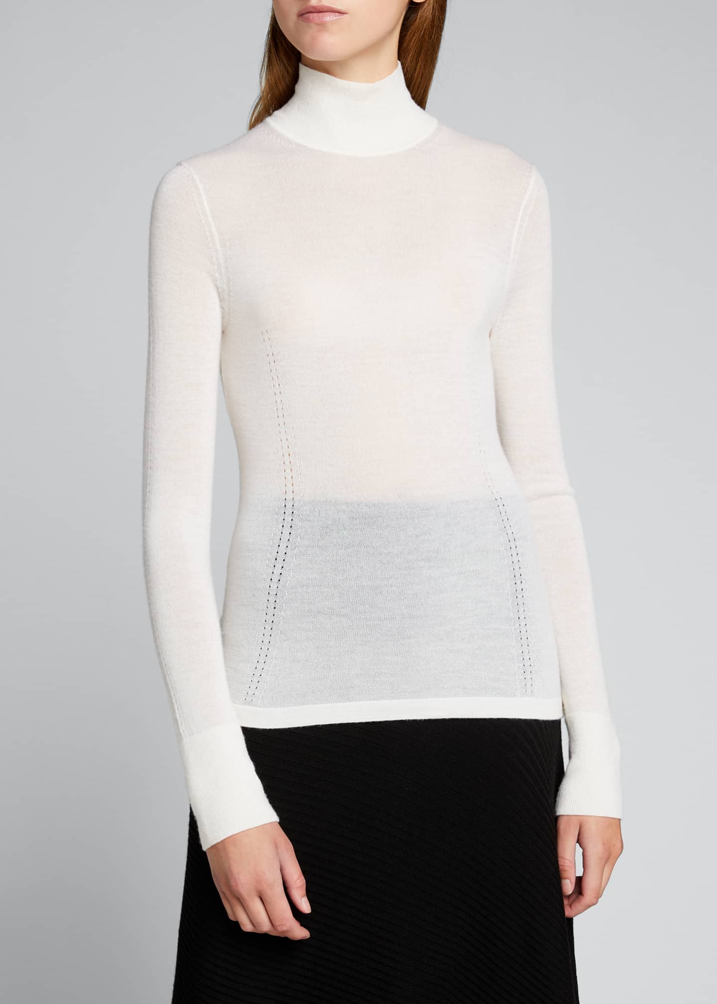 Image 3 of 5: Faith Cashmere Featherweight Sweater
