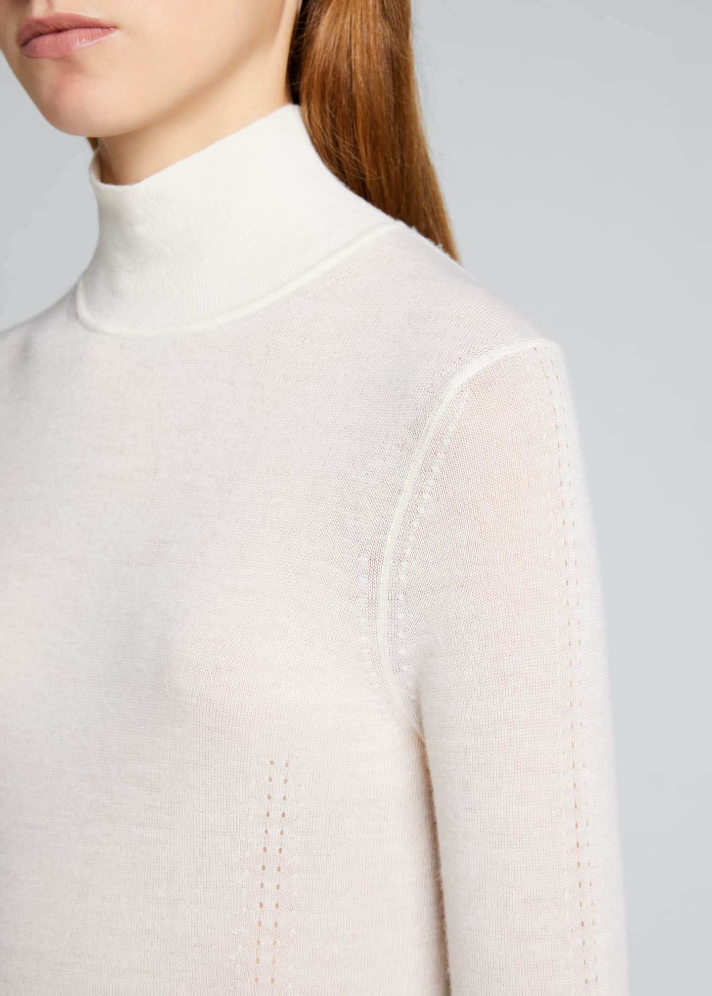Image 4 of 5: Faith Cashmere Featherweight Sweater