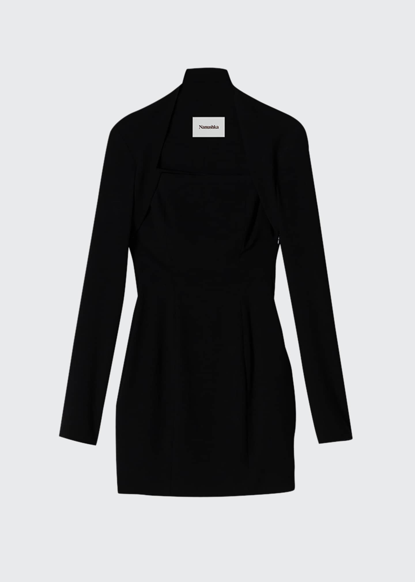 Image 1 of 1: Maria Long-Sleeve Crepe Dress
