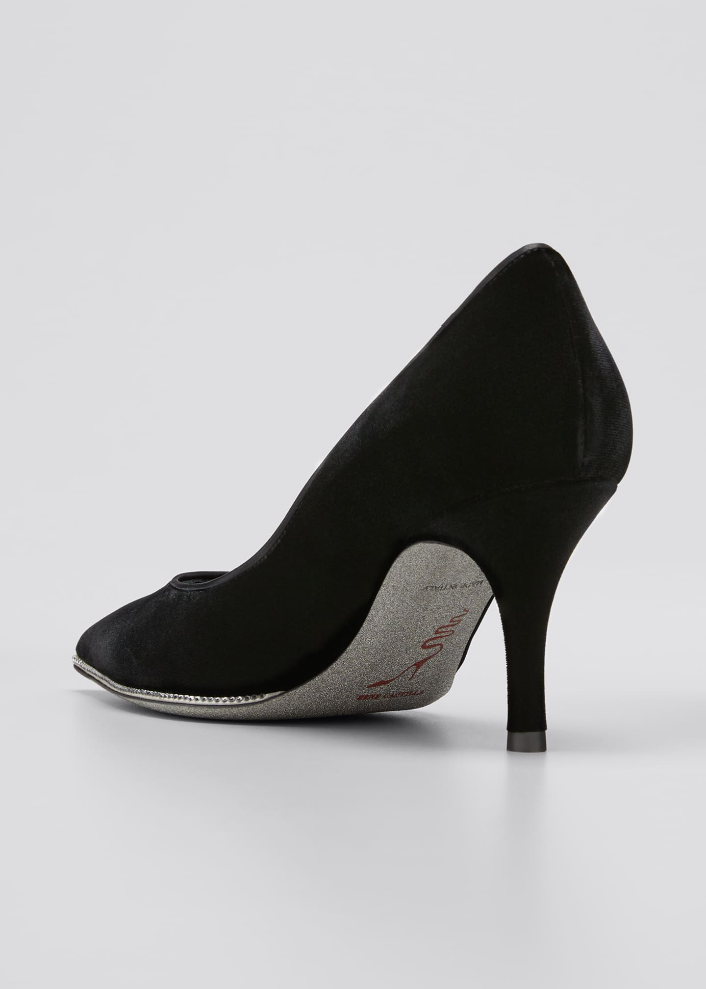 Image 2 of 3: Grace 75mm Velvet Crystal Pumps
