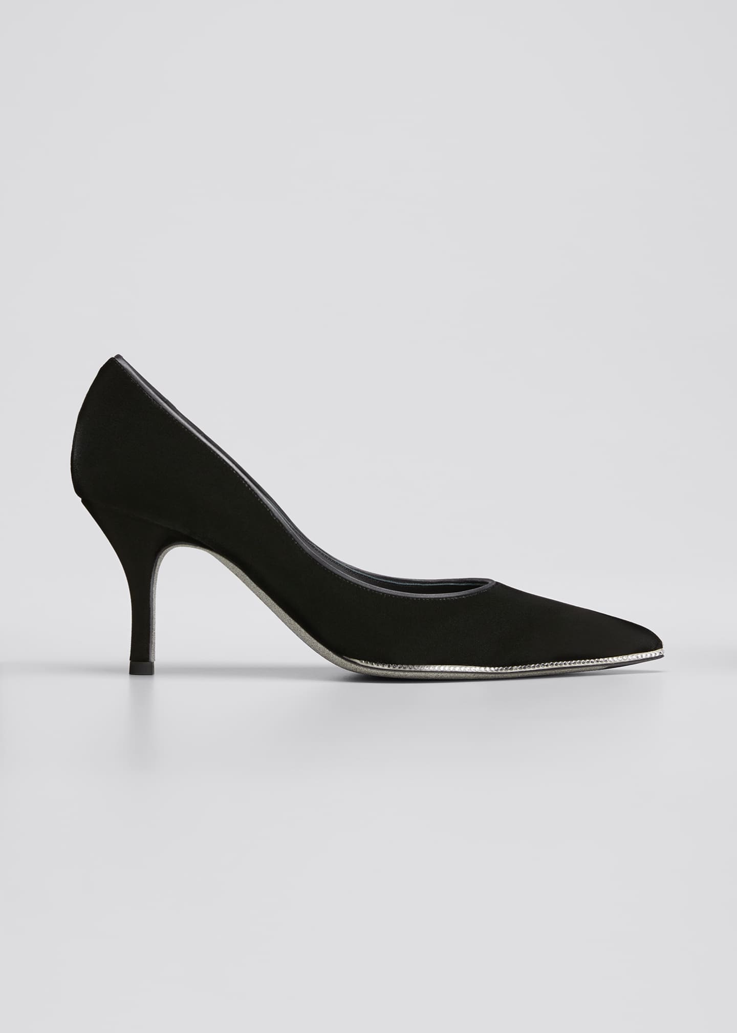Image 1 of 3: Grace 75mm Velvet Crystal Pumps