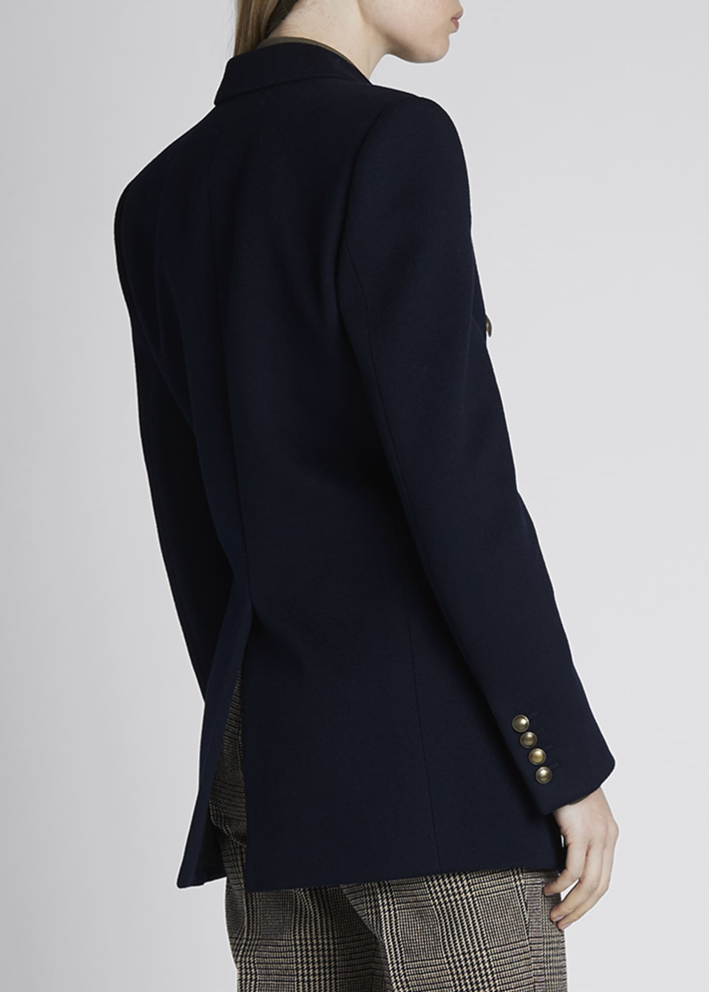 Image 2 of 4: Double-Breasted Oversized Wool-Cashmere Blazer