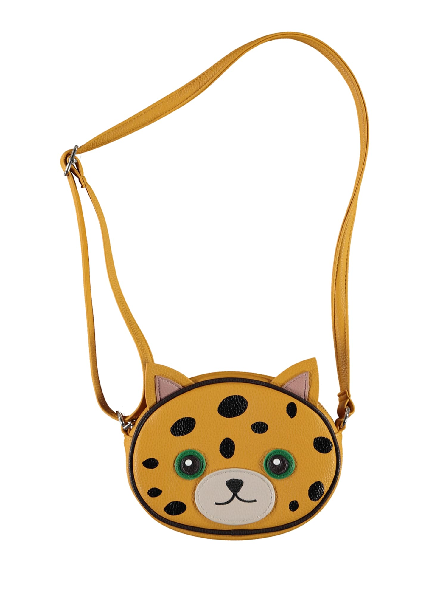 Image 2 of 3: Girl's Leopard Face Crossbody Bag