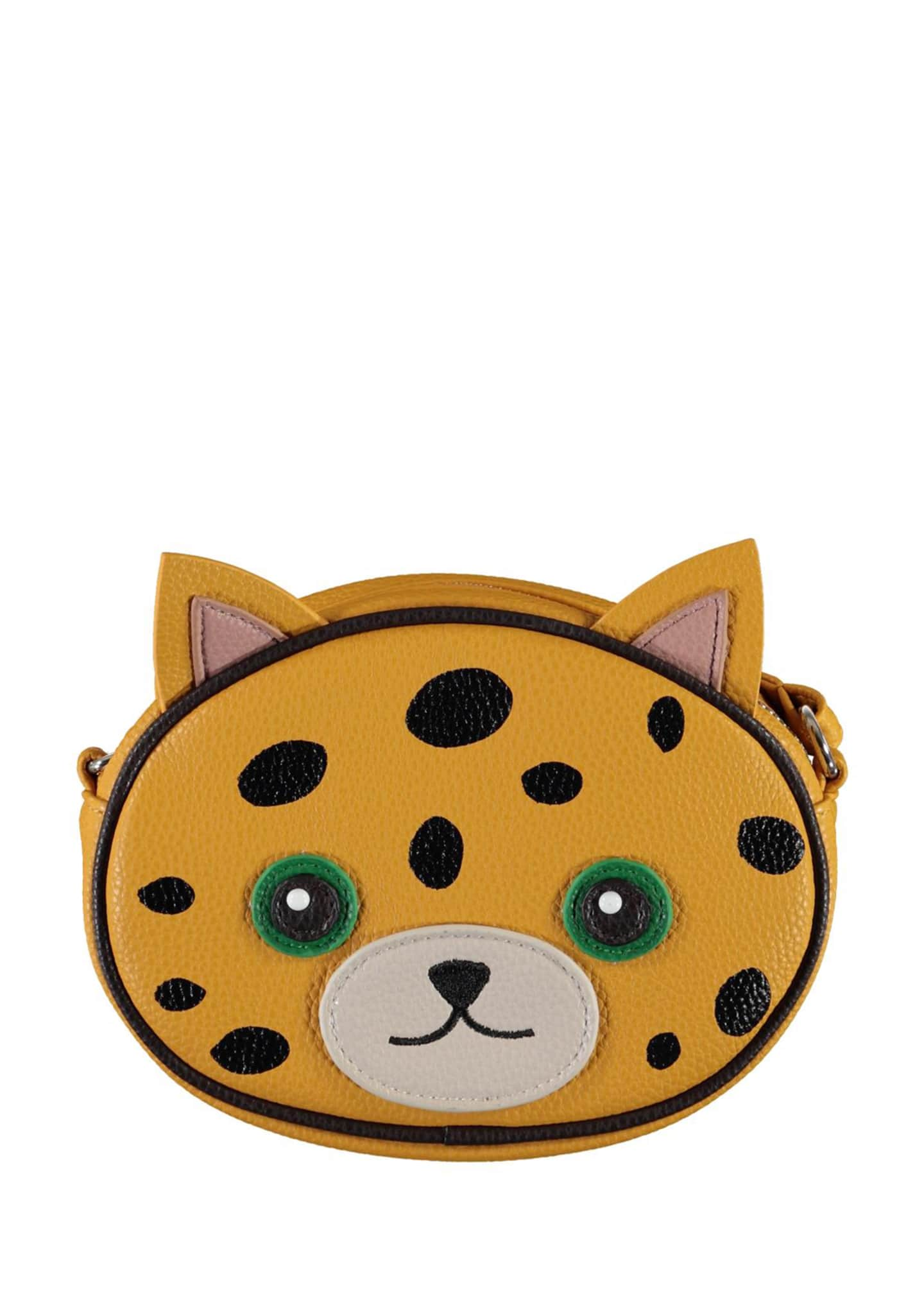 Image 1 of 3: Girl's Leopard Face Crossbody Bag