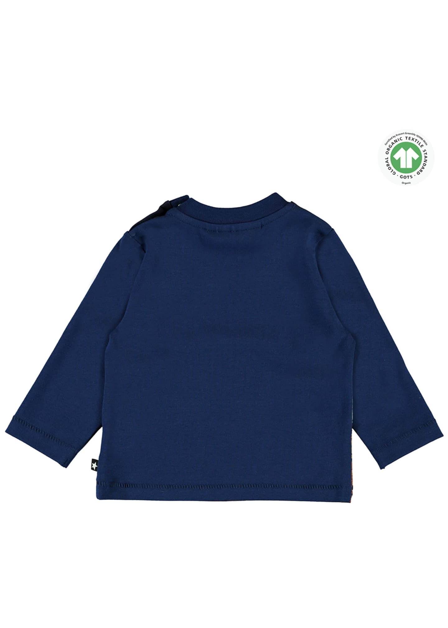 Image 2 of 3: Enovan Animals Placement Long-Sleeve T-Shirt, Size 12-24 Months