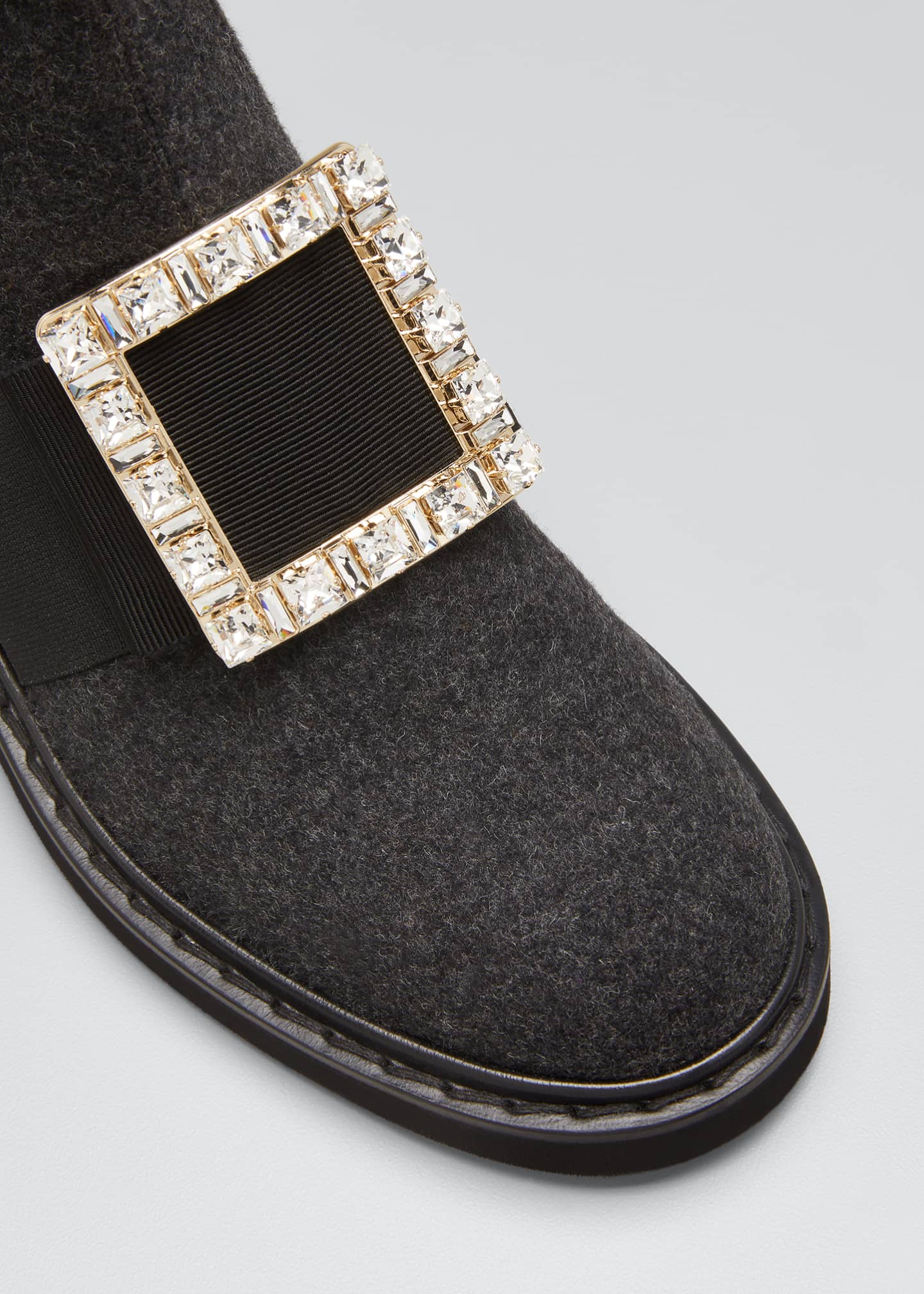 Image 5 of 5: Vivi Rangers Chelsea Booties with Crystal Buckle