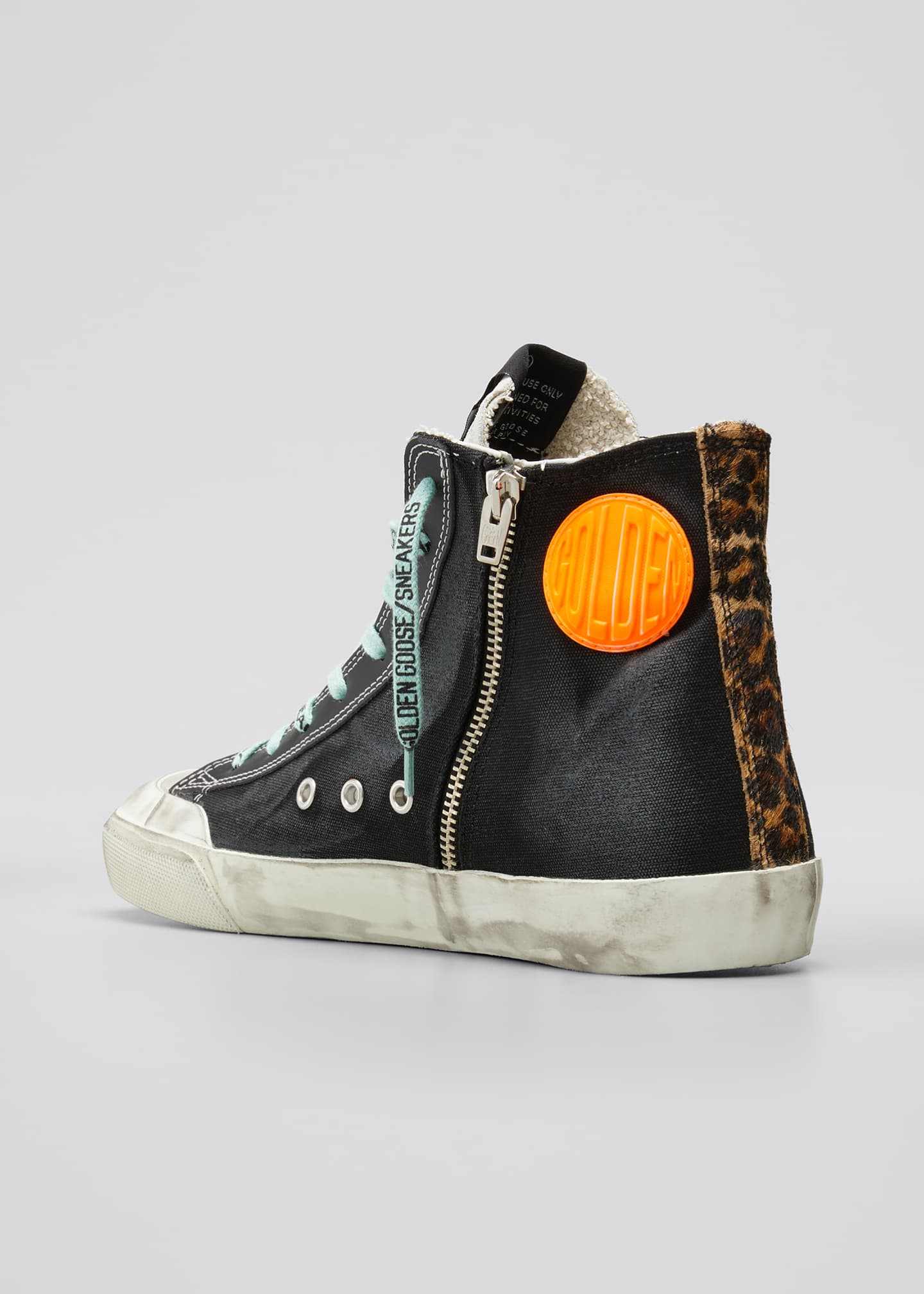 Image 2 of 3: Men's Francy High-Top Sneakers w/ Smile Patch