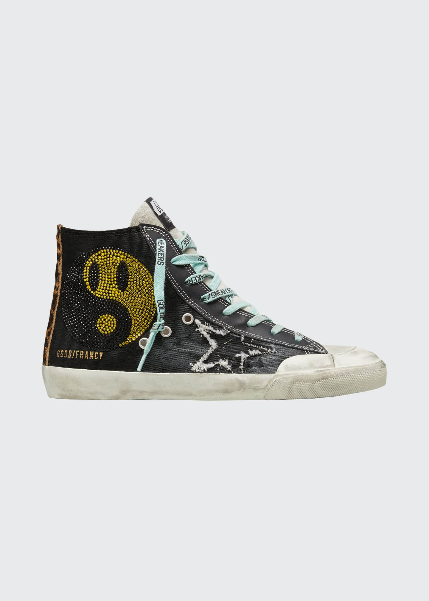 Image 1 of 3: Men's Francy High-Top Sneakers w/ Smile Patch