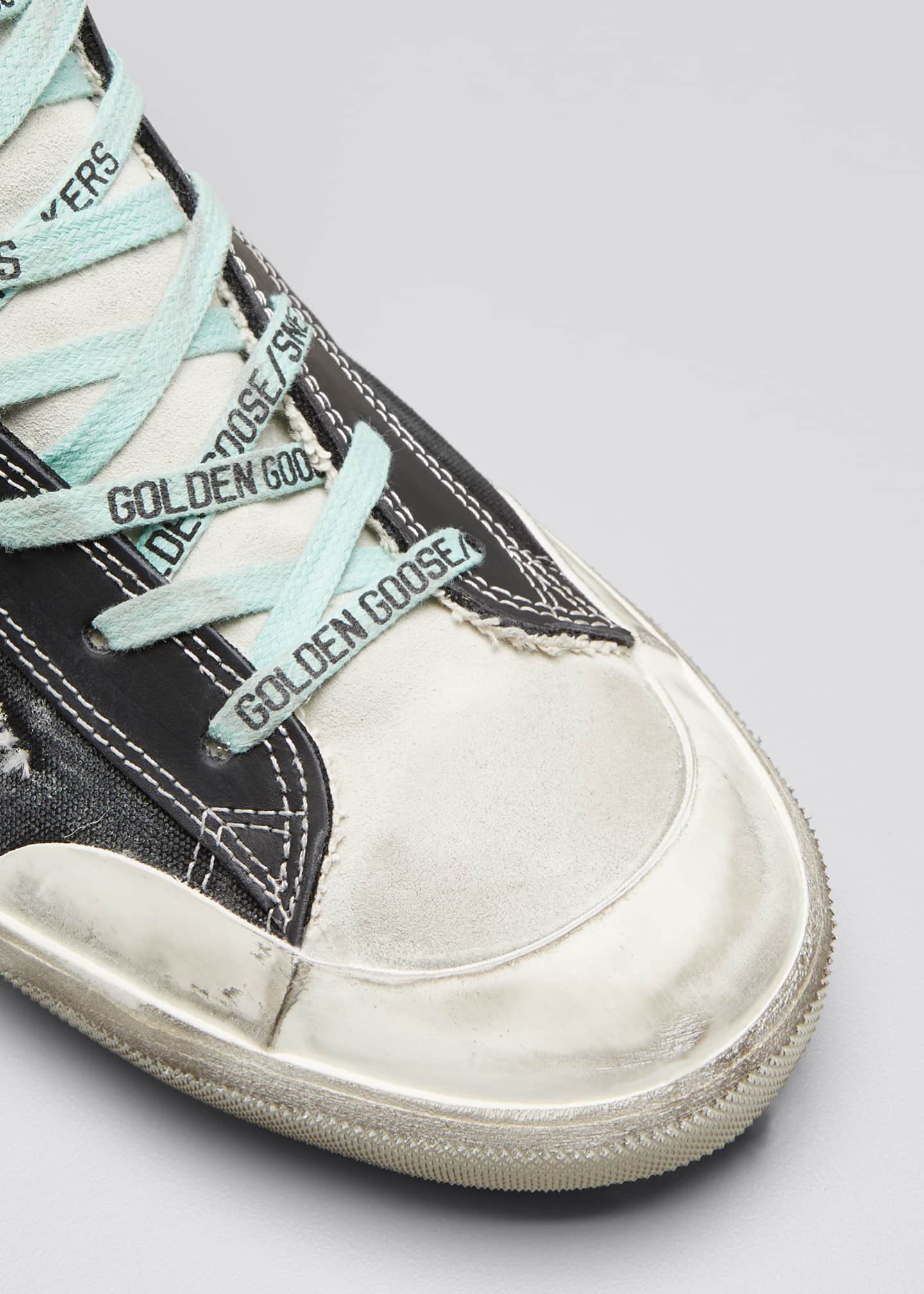 Image 3 of 3: Men's Francy High-Top Sneakers w/ Smile Patch