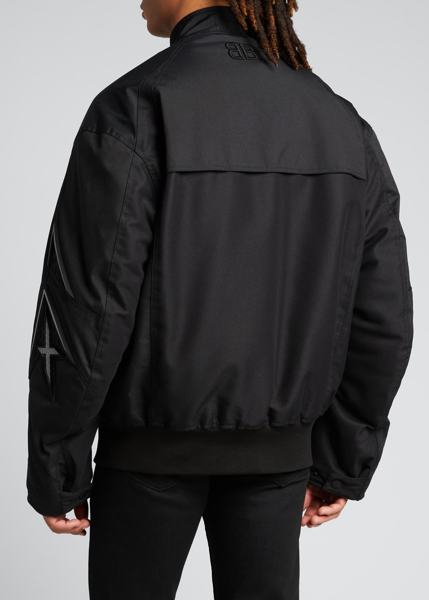 Image 2 of 5: Men's Logo Zip-Front Racing Jacket