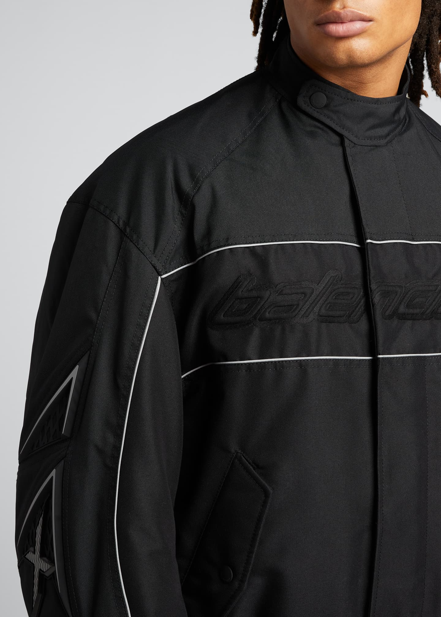 Image 4 of 5: Men's Logo Zip-Front Racing Jacket