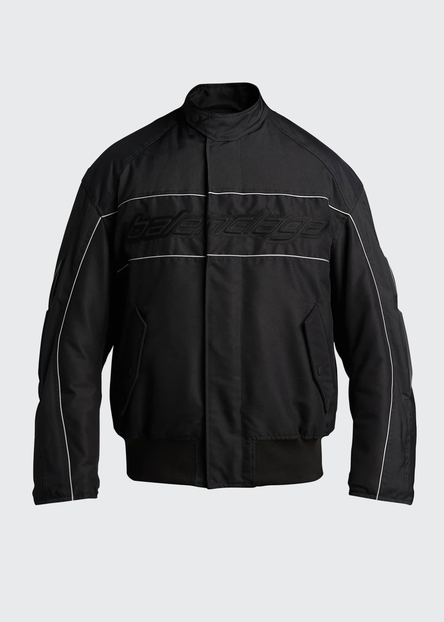 Image 5 of 5: Men's Logo Zip-Front Racing Jacket
