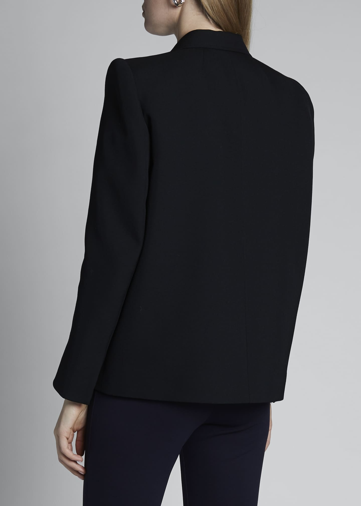Image 2 of 3: Curved Shoulder Wool Jacket