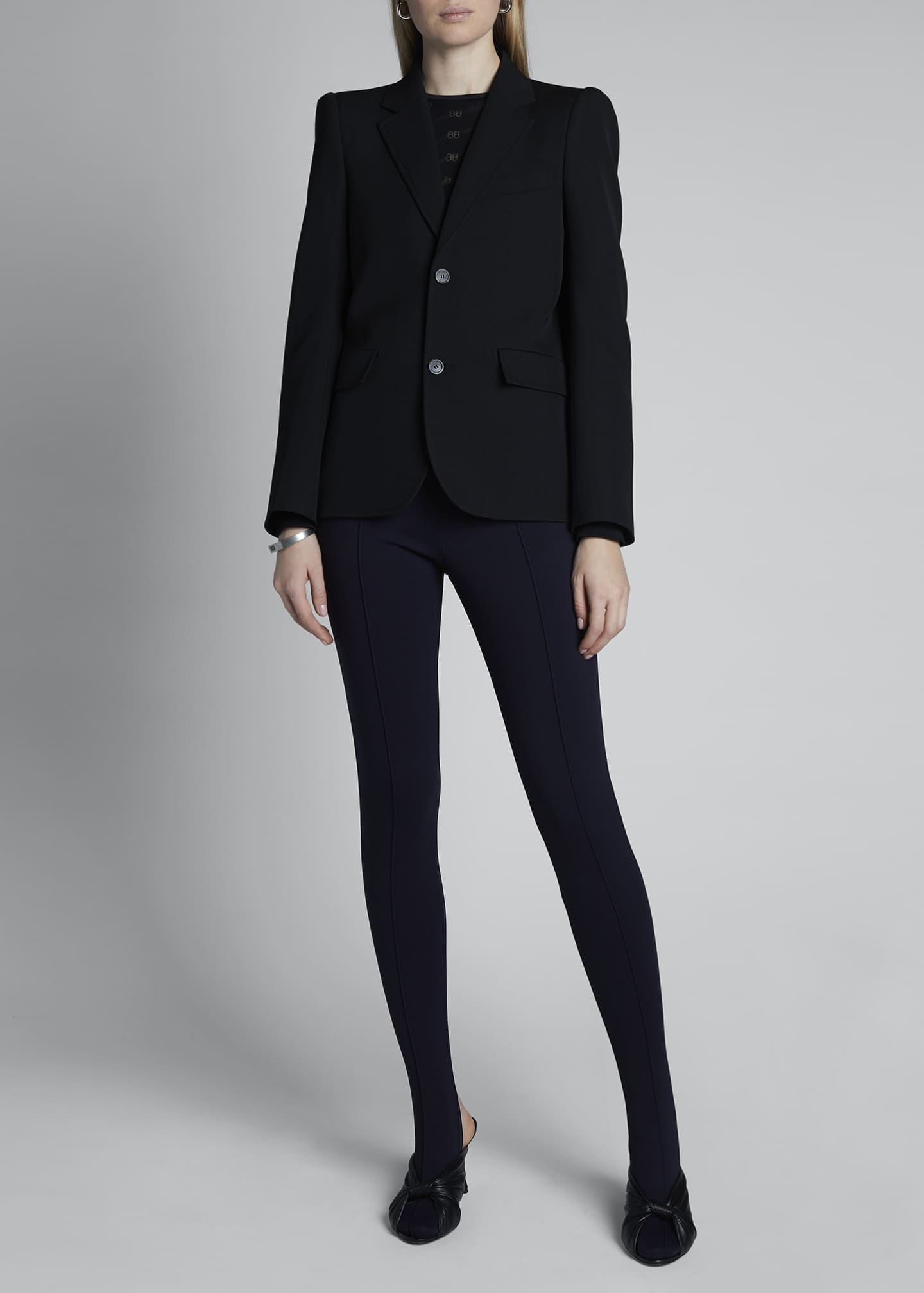 Image 1 of 3: Curved Shoulder Wool Jacket