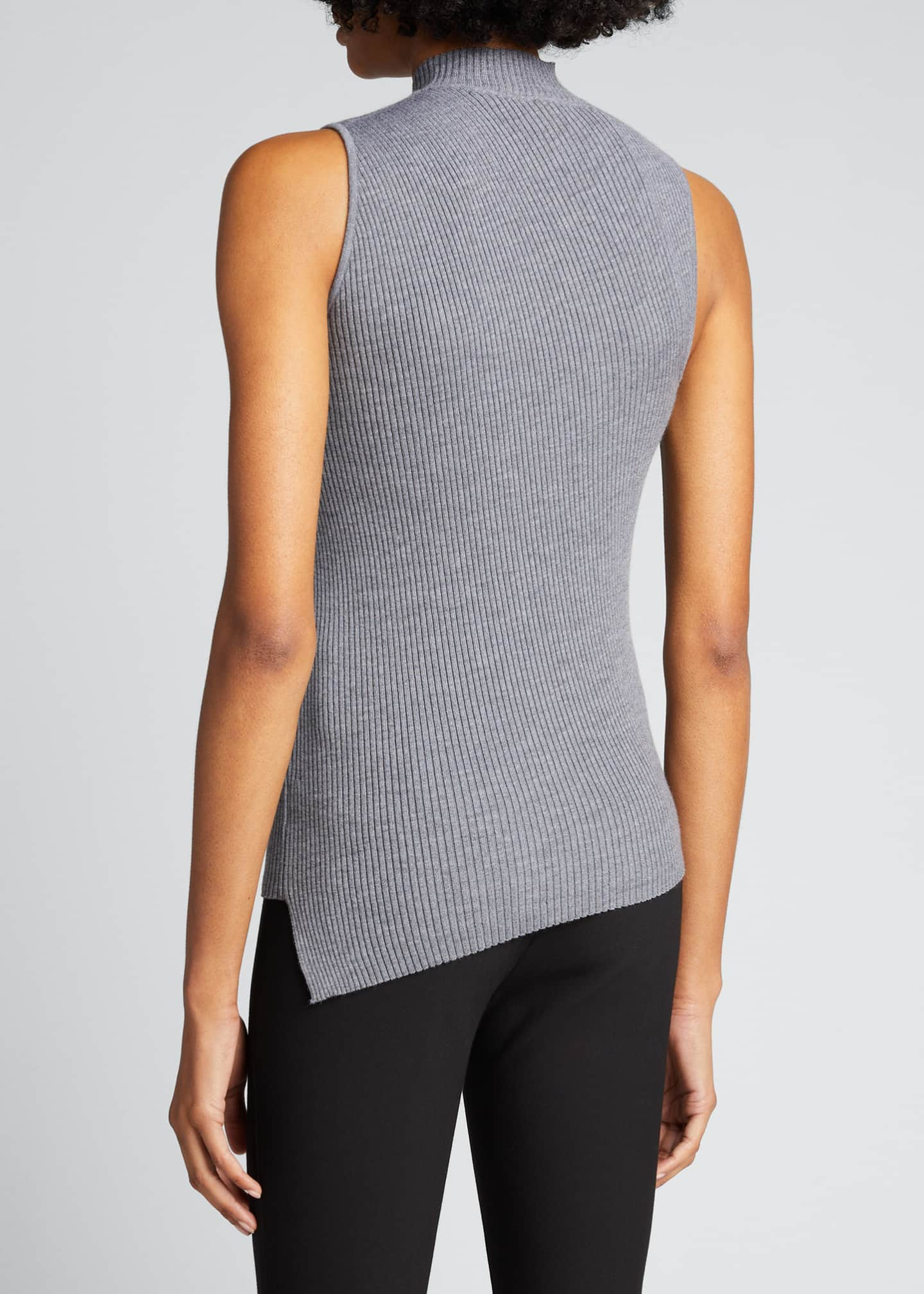 Image 2 of 5: Twisted Rib Sleeveless Wool-Blend Top