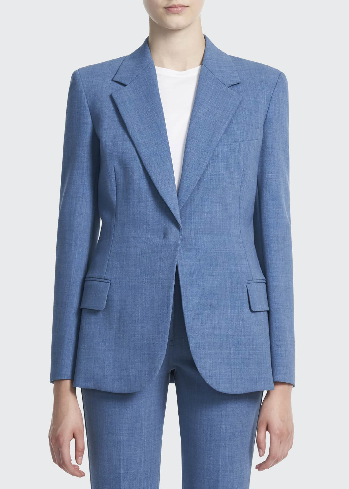 Image 1 of 3: Fitted Twill Blazer
