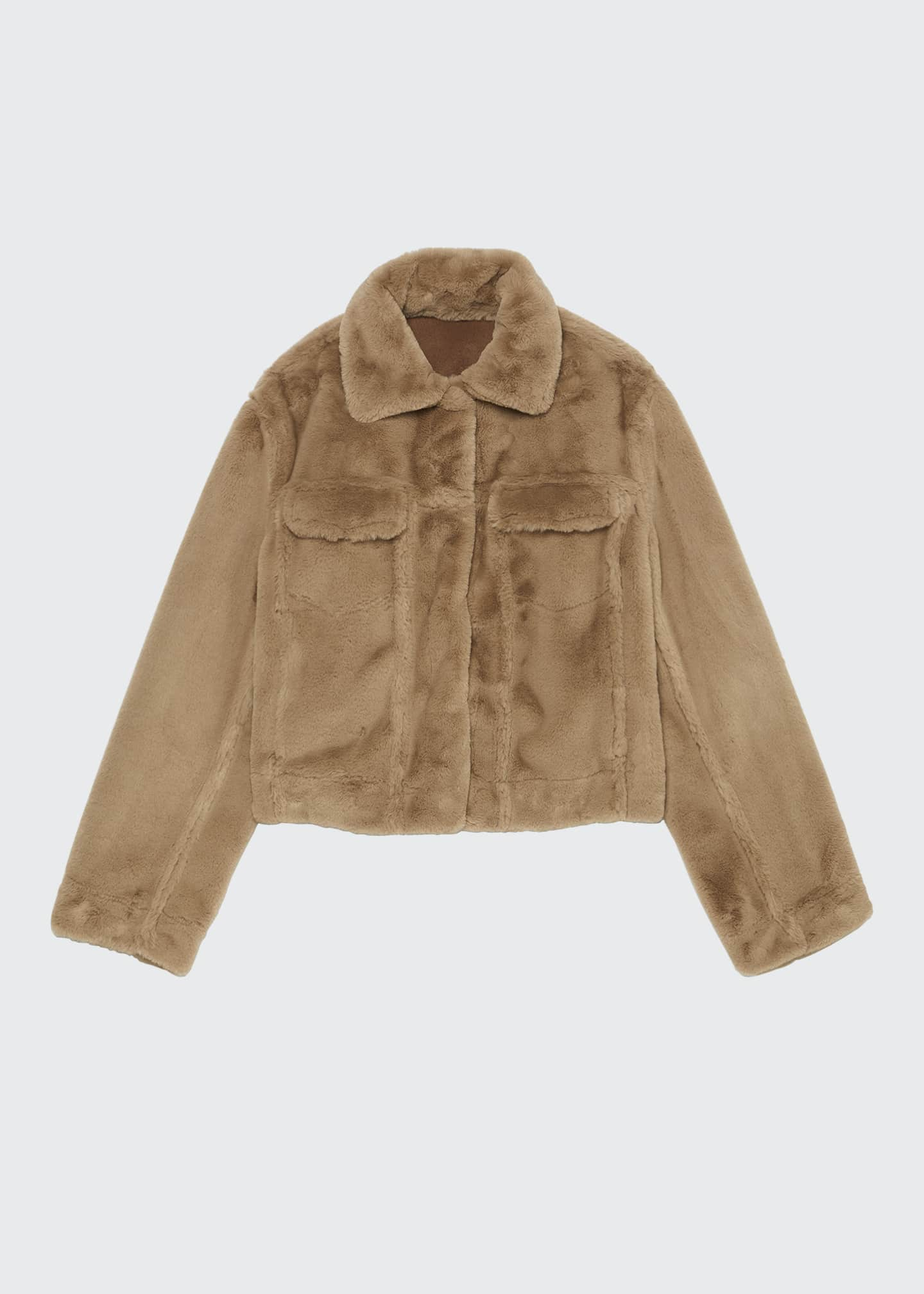 Image 1 of 1: Faux Fur Trucker Jacket